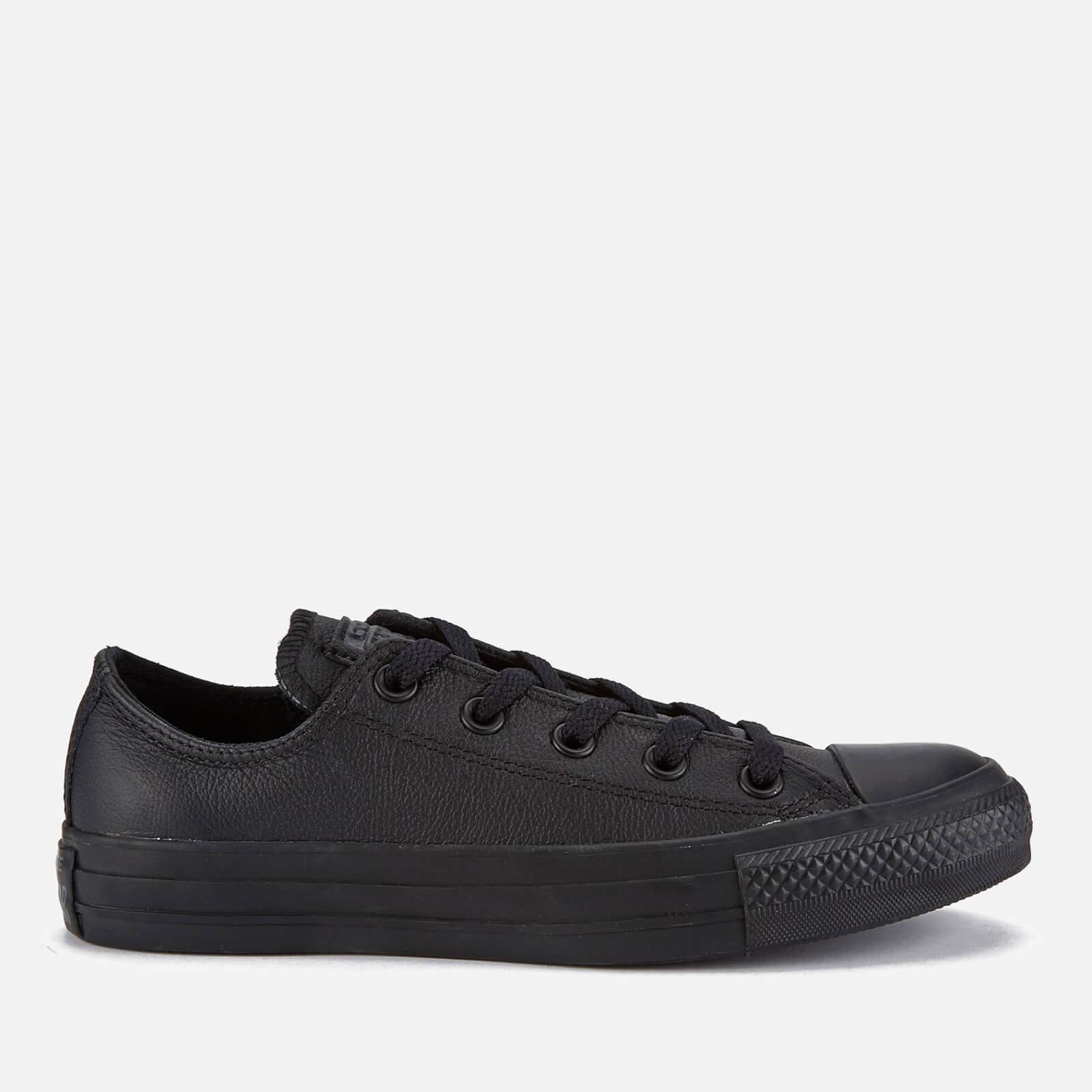 Converse Chuck Taylor All Star Ox Leather Trainers - Black Monochrome - UK 3