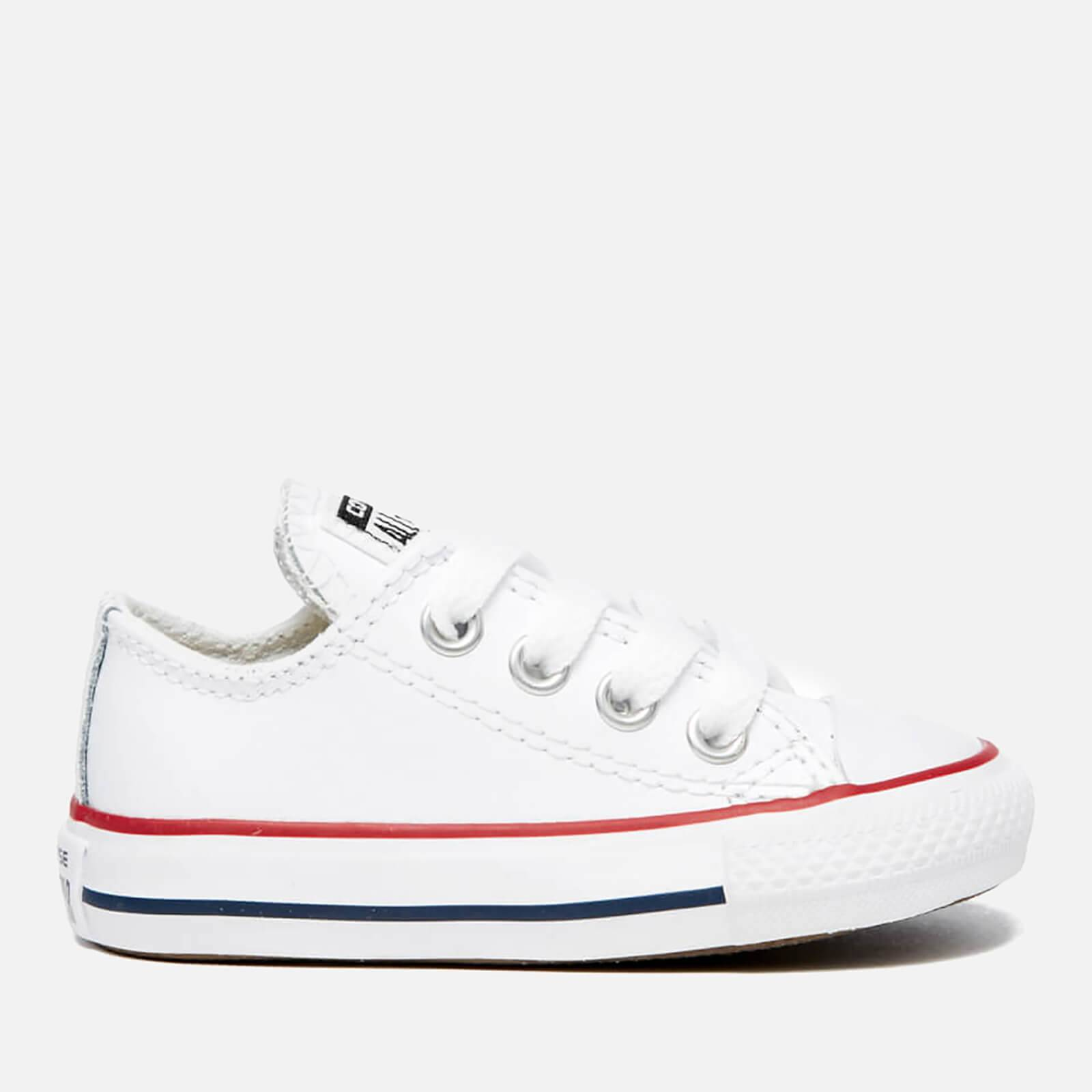 Converse Toddlers' Chuck Taylor All Star Ox Trainers - White/Garnet/Navy - UK 2 Toddler