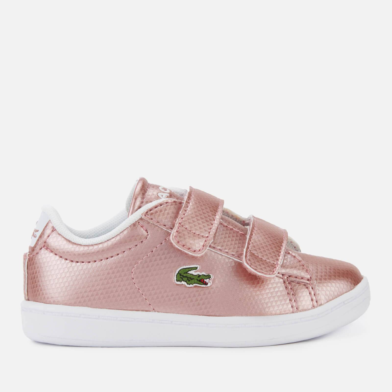 Lacoste Toddler's Carnaby Evo 119 6 Velcro Low Top Trainers - Pink/White - UK 3 Toddler - Pink/White