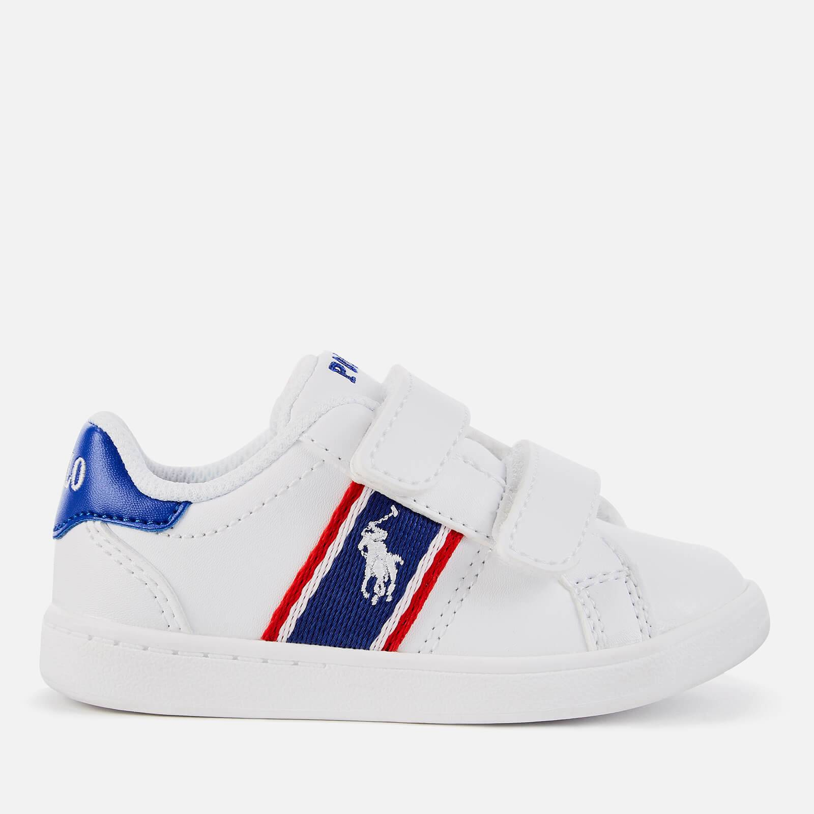 Ralph Lauren Polo Ralph Lauren Toddlers' Quigley Ez Velcro Trainers - White/Royal Red/White PP - UK 8 Toddler/EU 25 - White