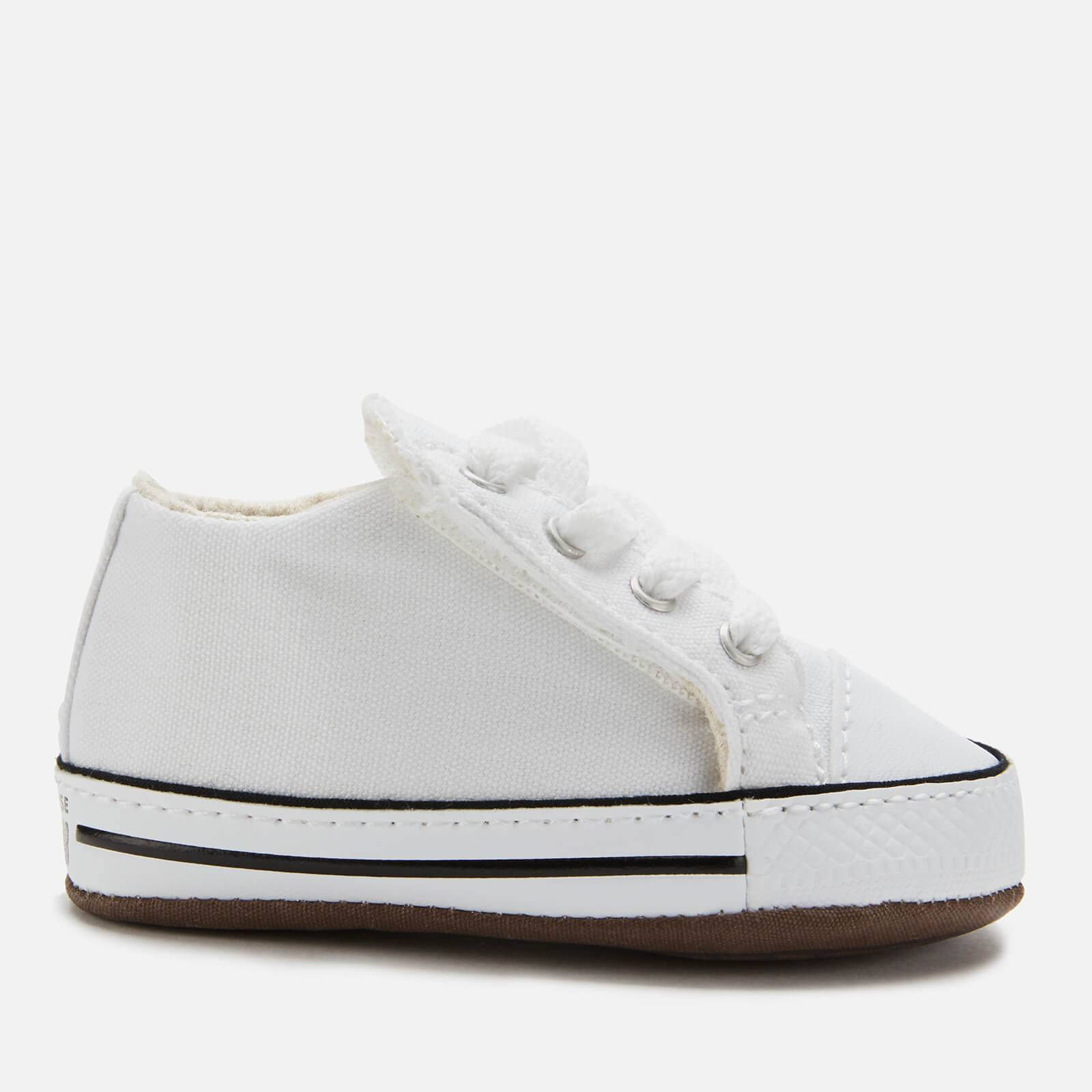 Converse Babies Chuck Taylor All Star Cribster Canvas Mid Trainers - White/Natural Ivory/White - UK 2 Baby - White