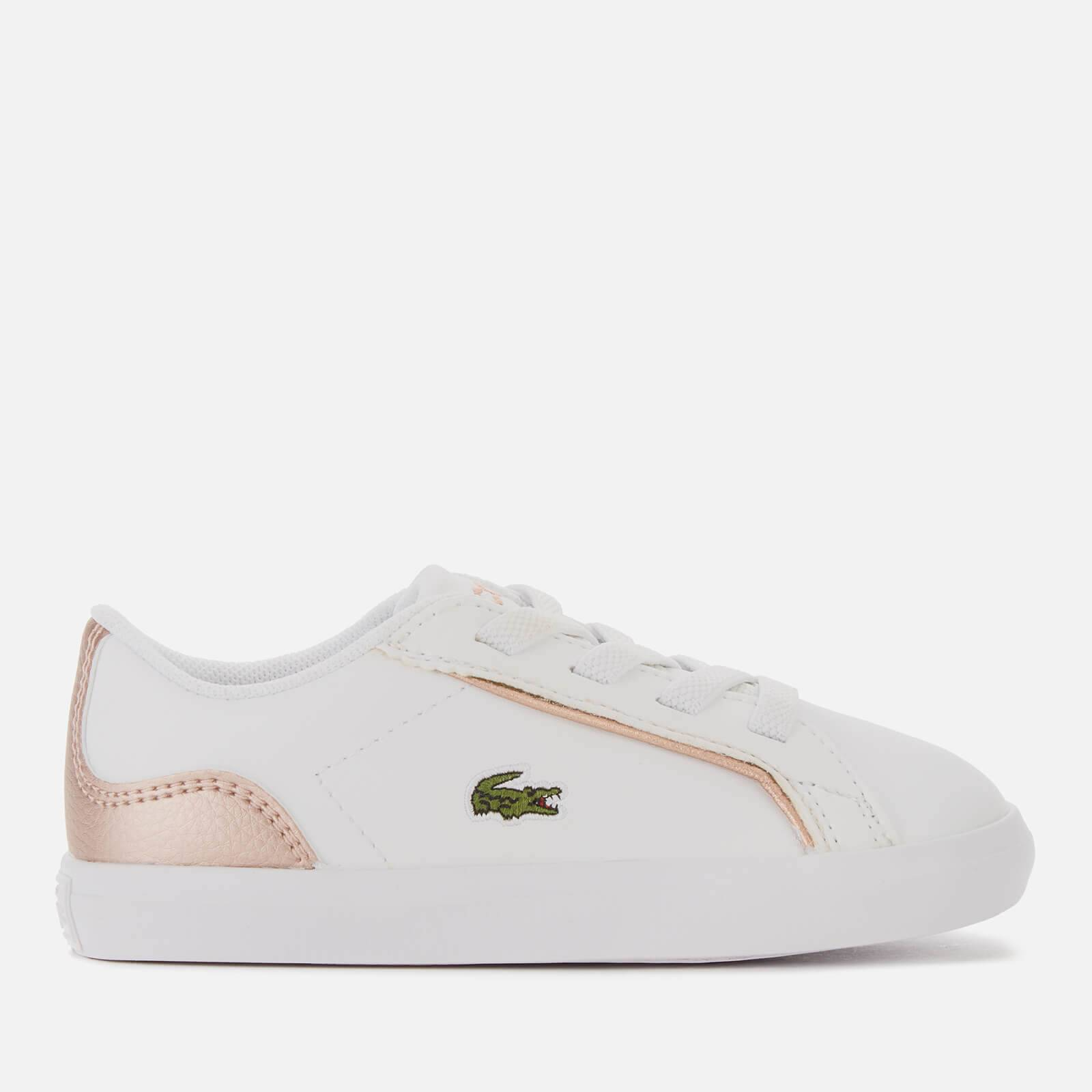 Lacoste Toddlers' Lerond Trainers - White/Pink - UK 6 Toddler