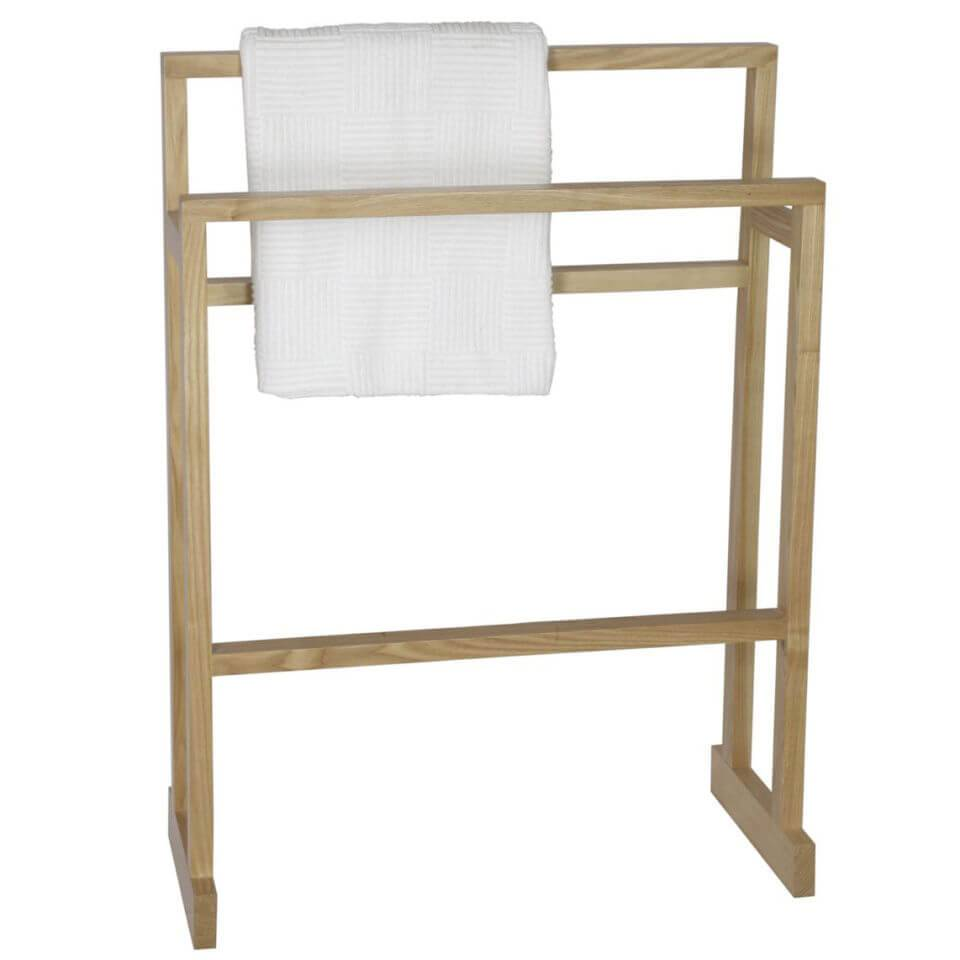 Wireworks Mezza Natural Oak Towel Rail