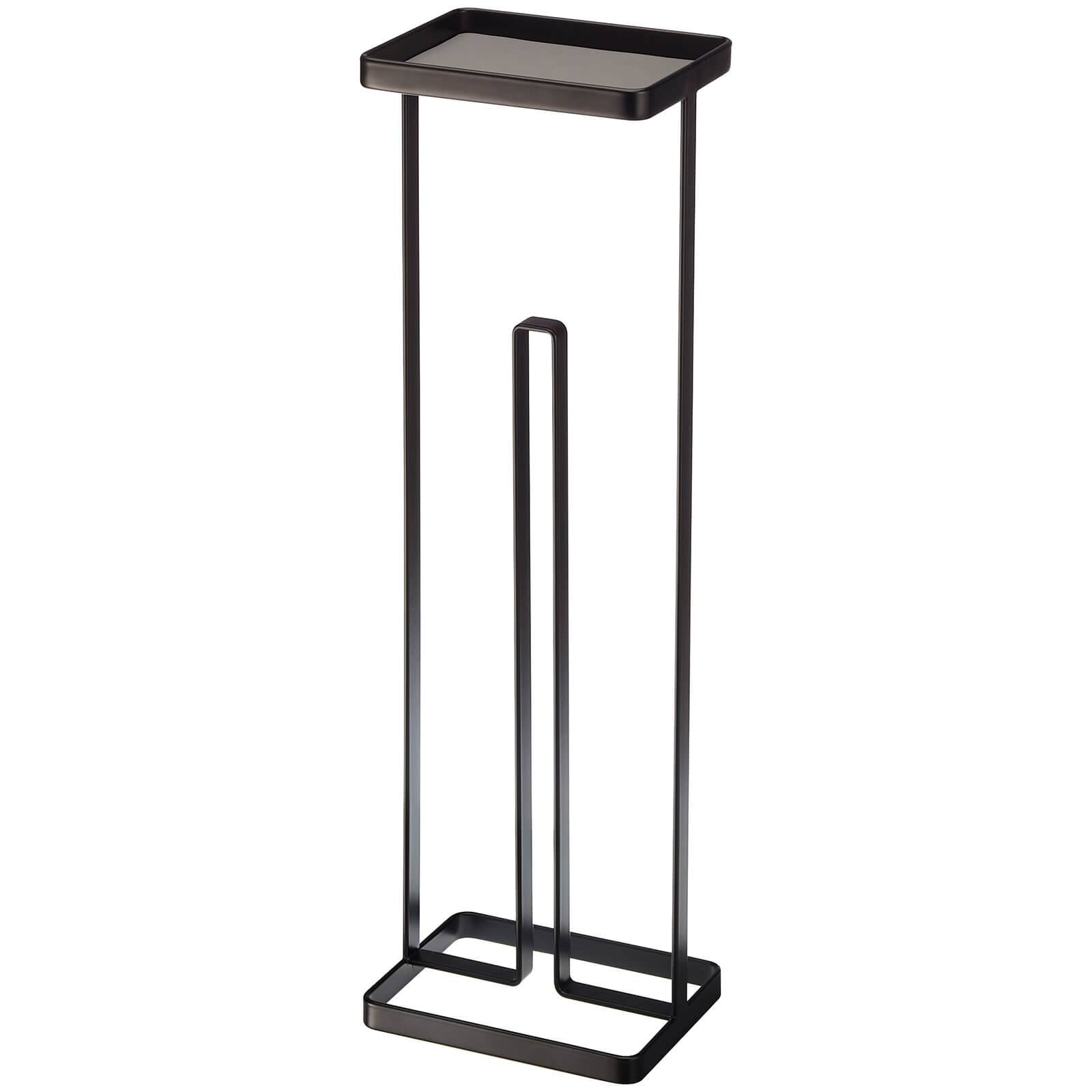 Yamazaki Tower Toilet Paper Stand with Tray - Black