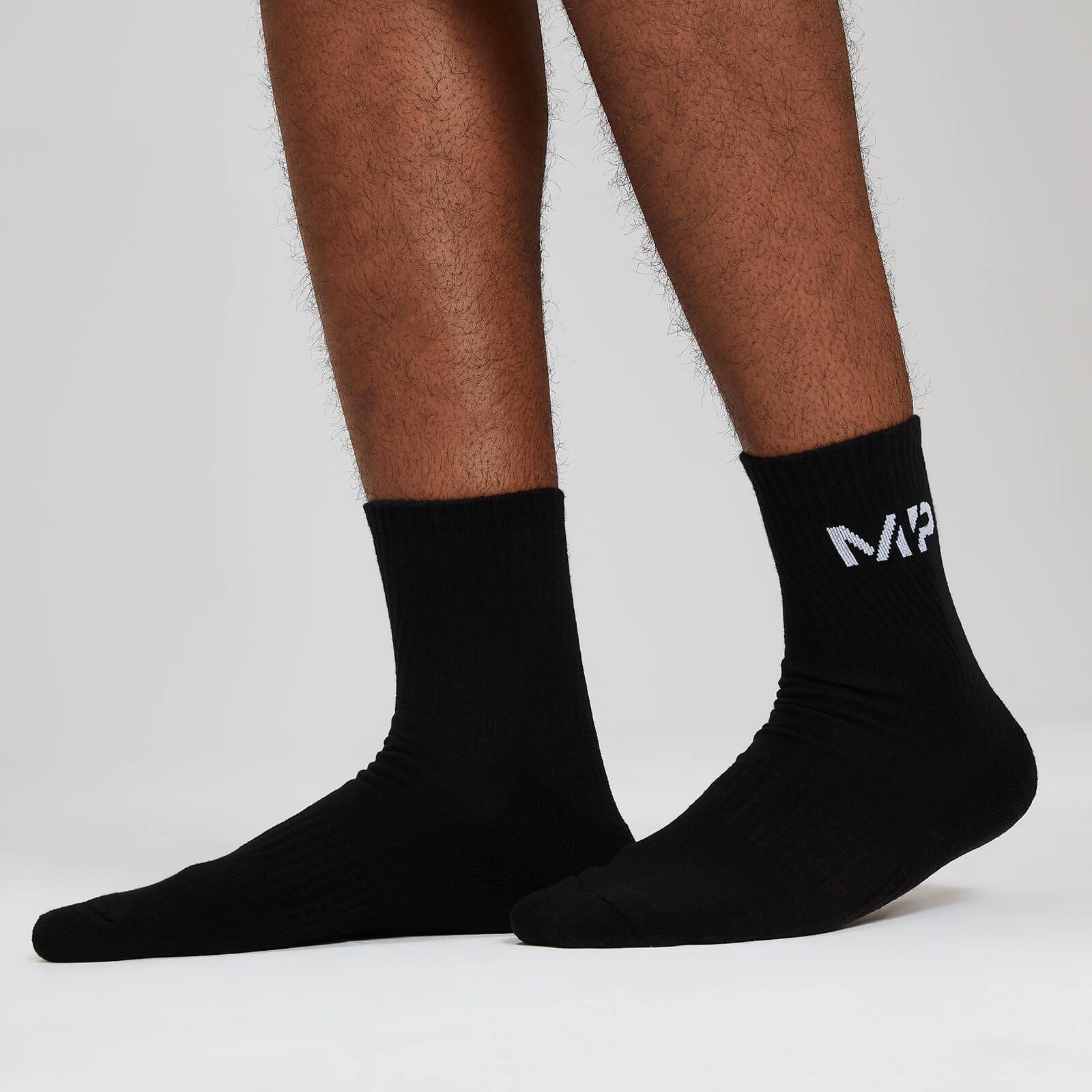 Myprotein MP Essentials Men's Crew Socks - Black (2 Pack) - UK 9-12