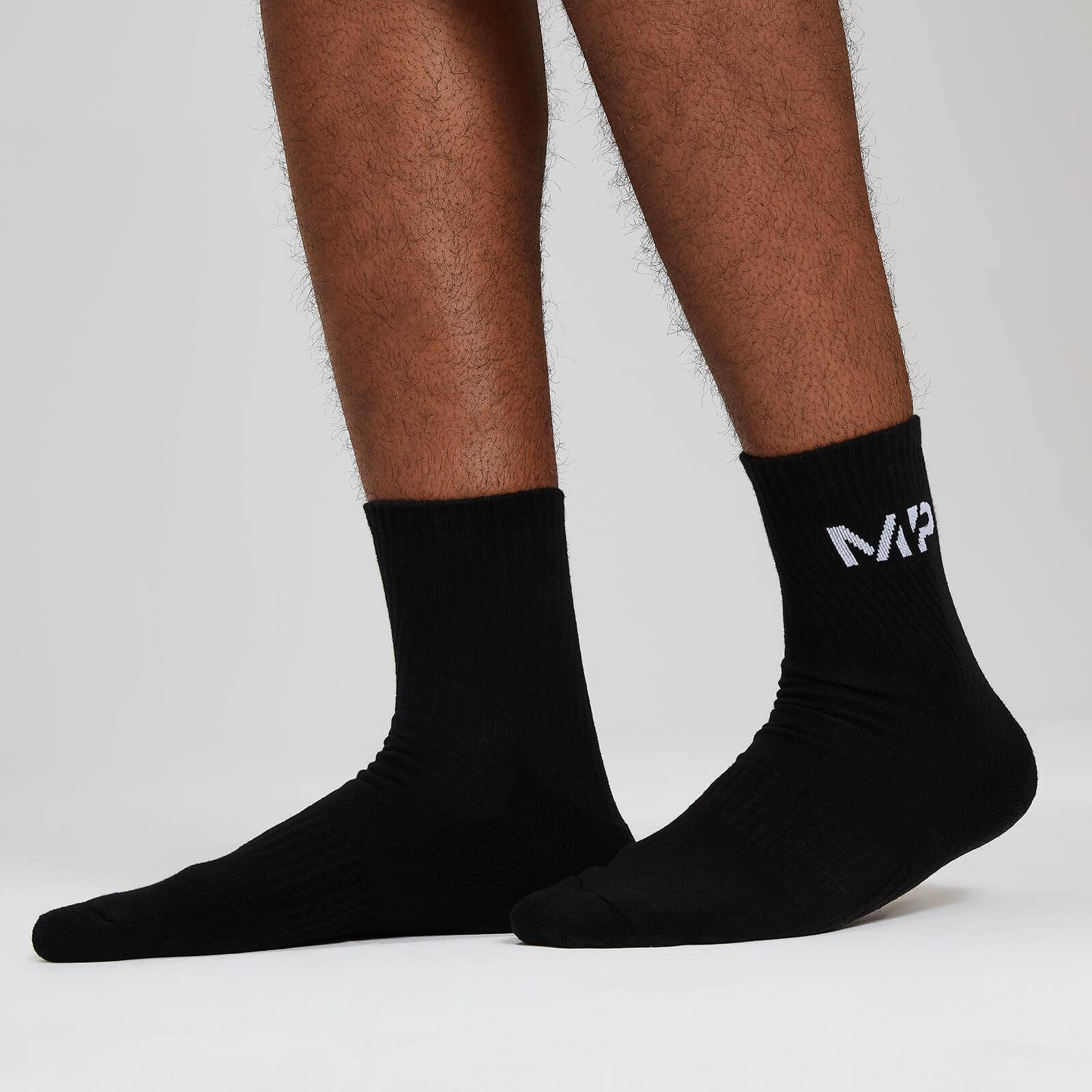 Myprotein MP Essentials Men's Crew Socks - Black (2 Pack) - UK 9-12