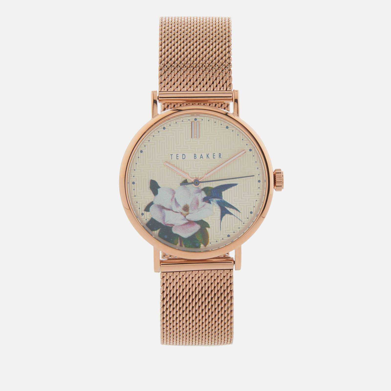 Ted Baker Women's Phylipa Flower Watch - Gold