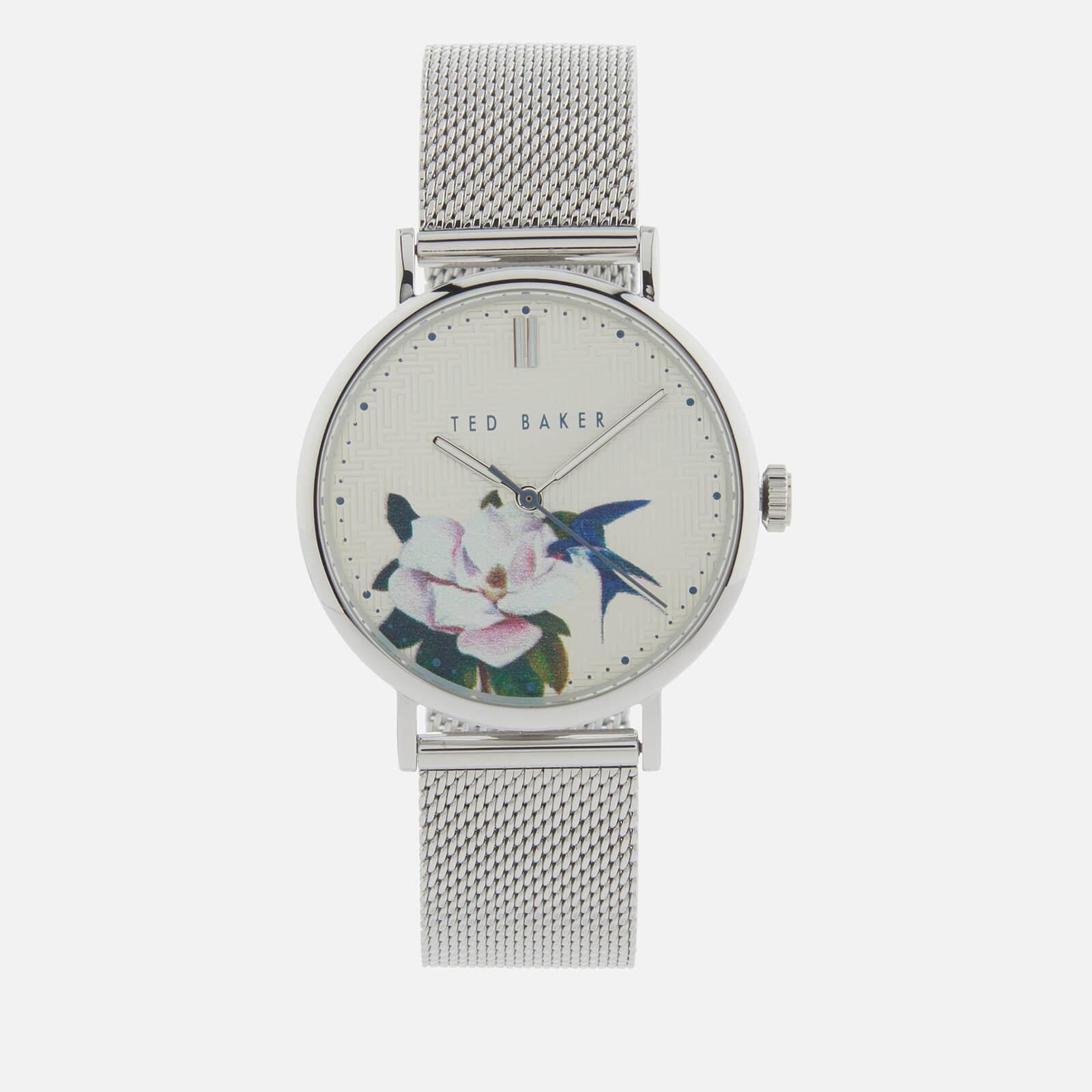 Ted Baker Women's Phylipa Flower Watch - Silver