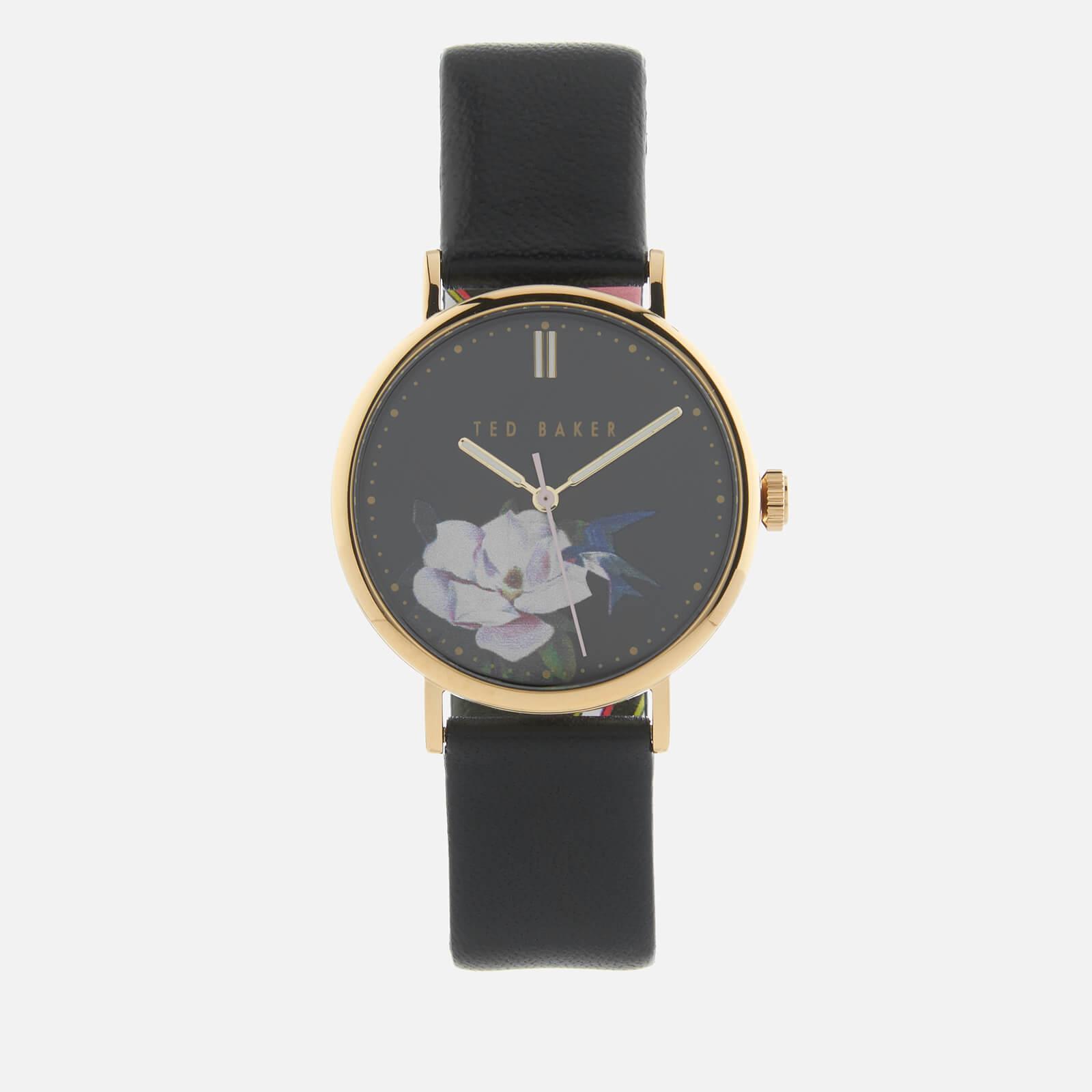 Ted Baker Women's Phylipa Flower Watch - Black
