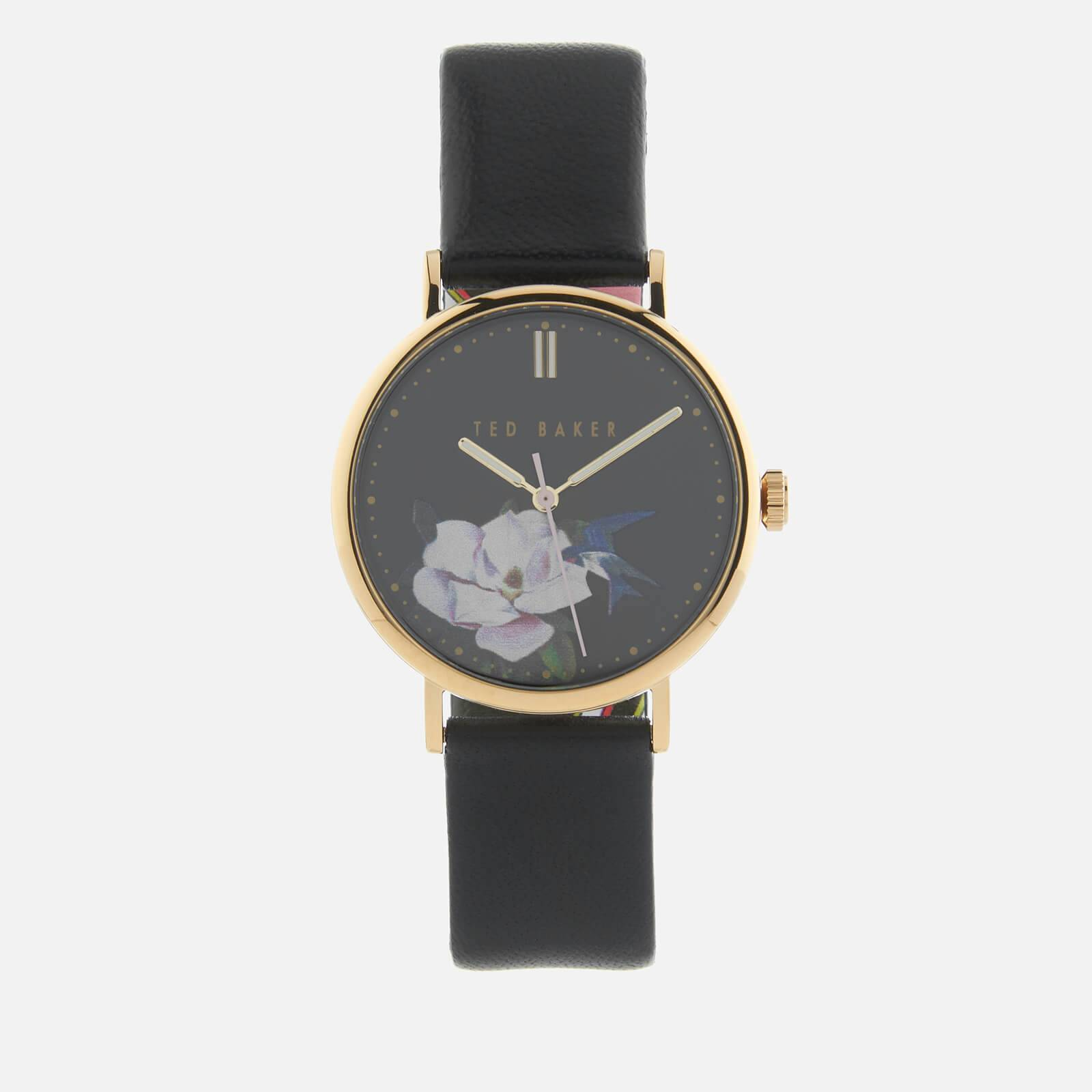 Ted Baker Women's Phylipa Flower Watch - Black