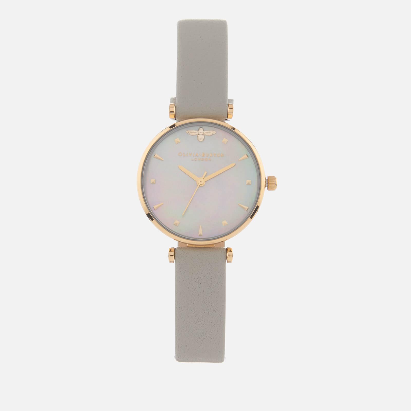 Olivia Burton Women's Queen Bee Marble Watch - Pale Green