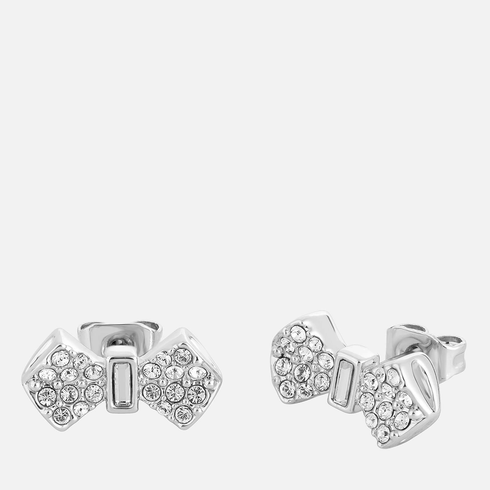 Ted Baker Women's Sersi Solitaire Pave Bow Earrings - Silver