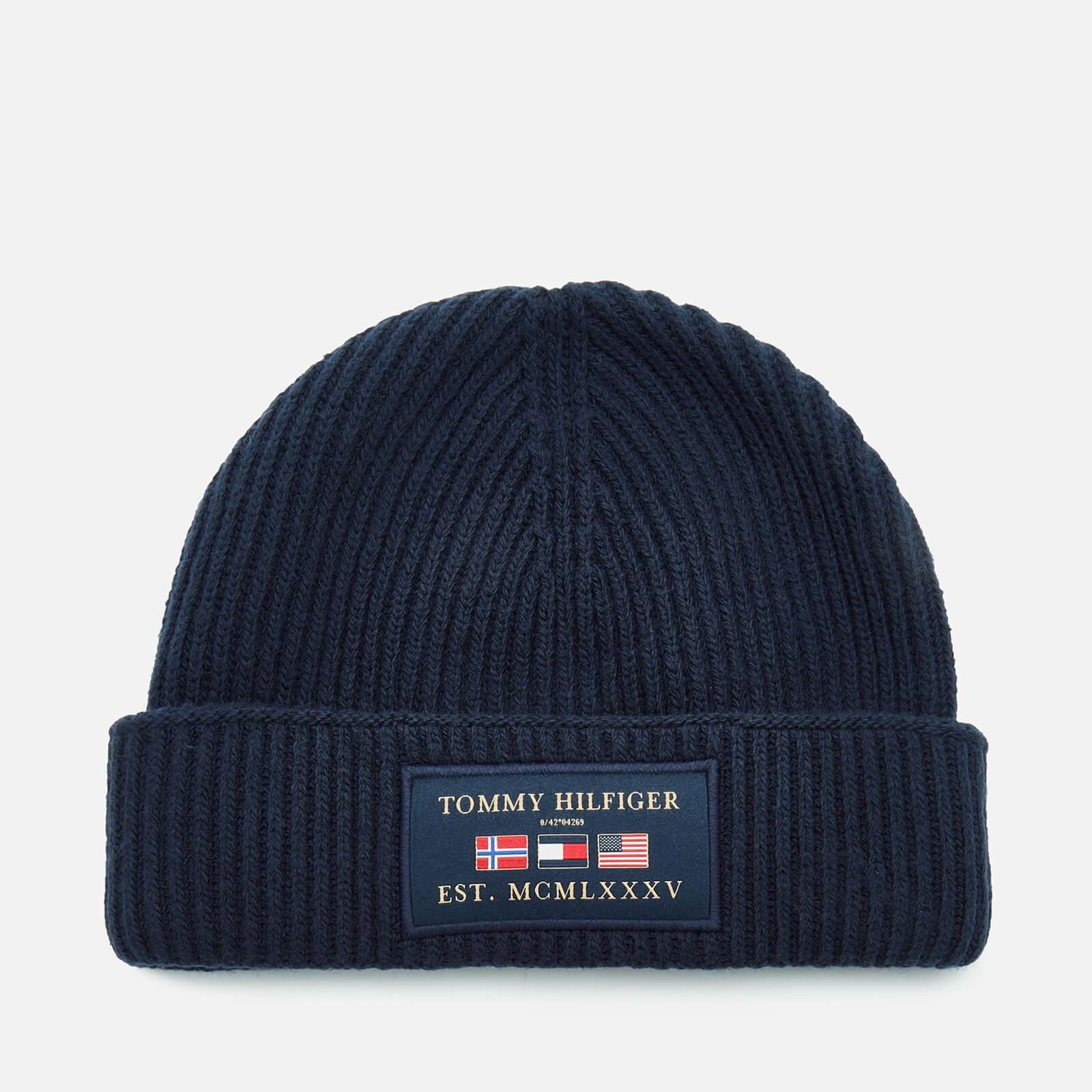 Tommy Hilfiger Men's Outdoors Patch Beanie Hat - Sky Captain