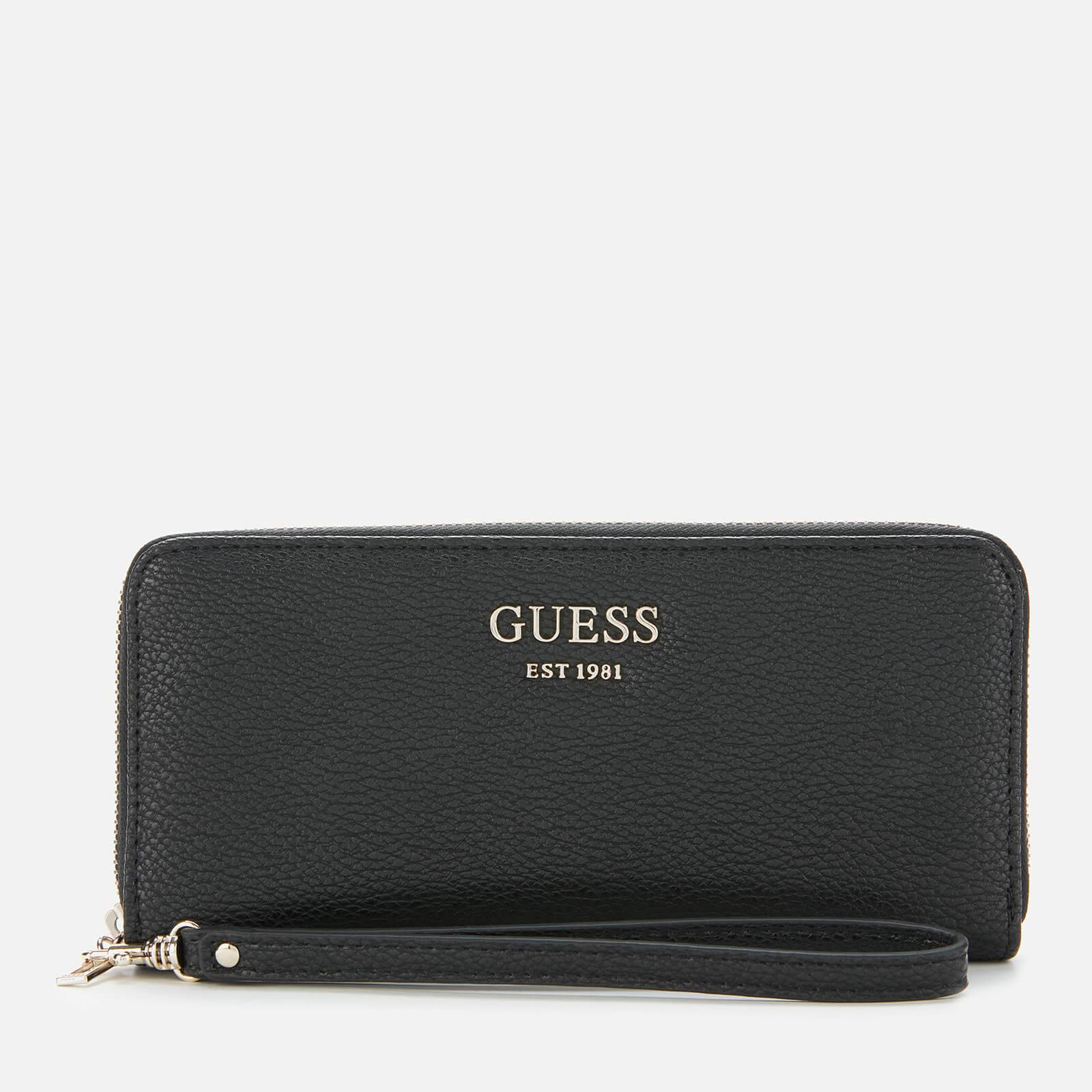 Guess Women's Vikky Large Zip Around Purse - Black