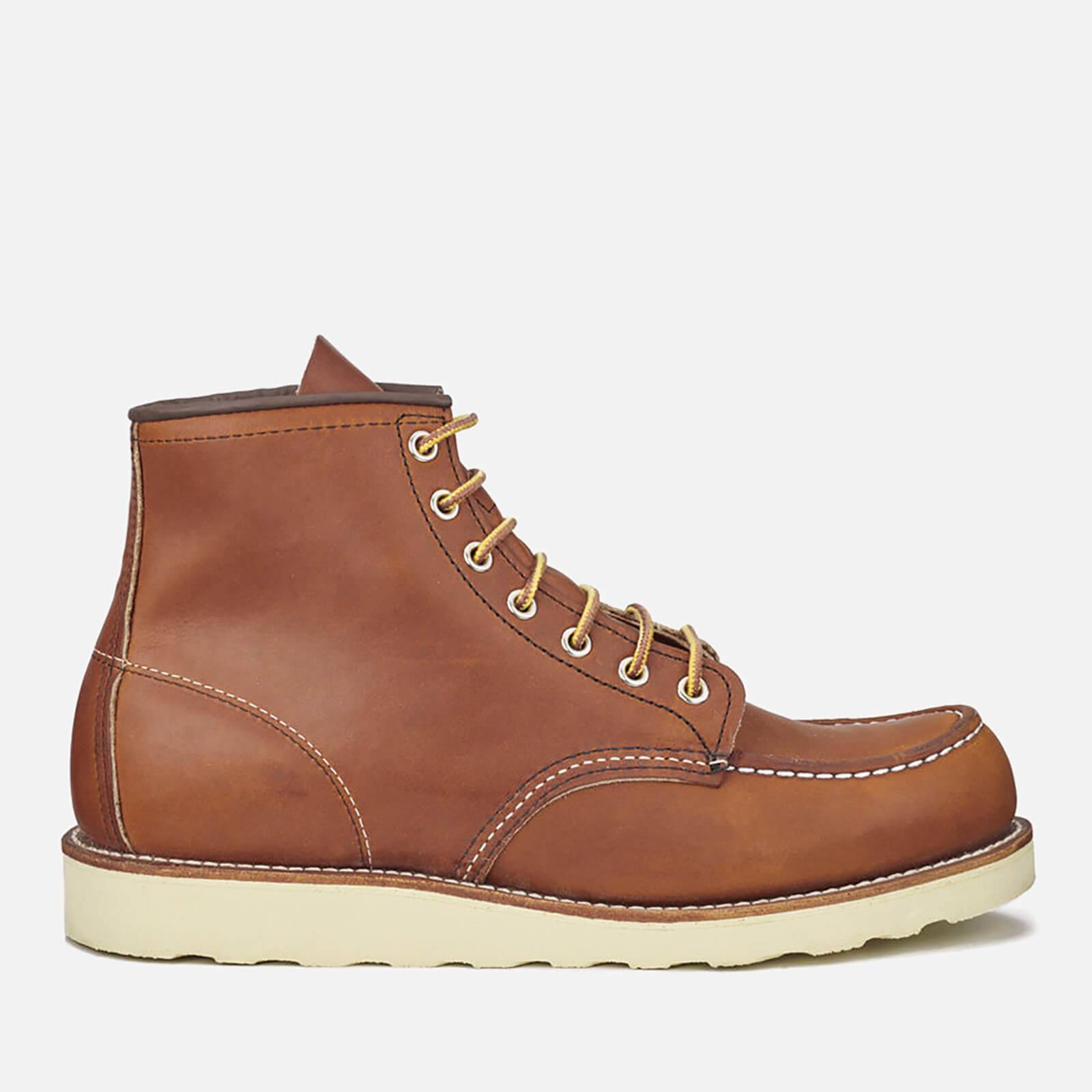 Red Wing Men's 6 Inch Moc Toe Leather Lace Up Boots - Oro Legacy - UK 9/US 10
