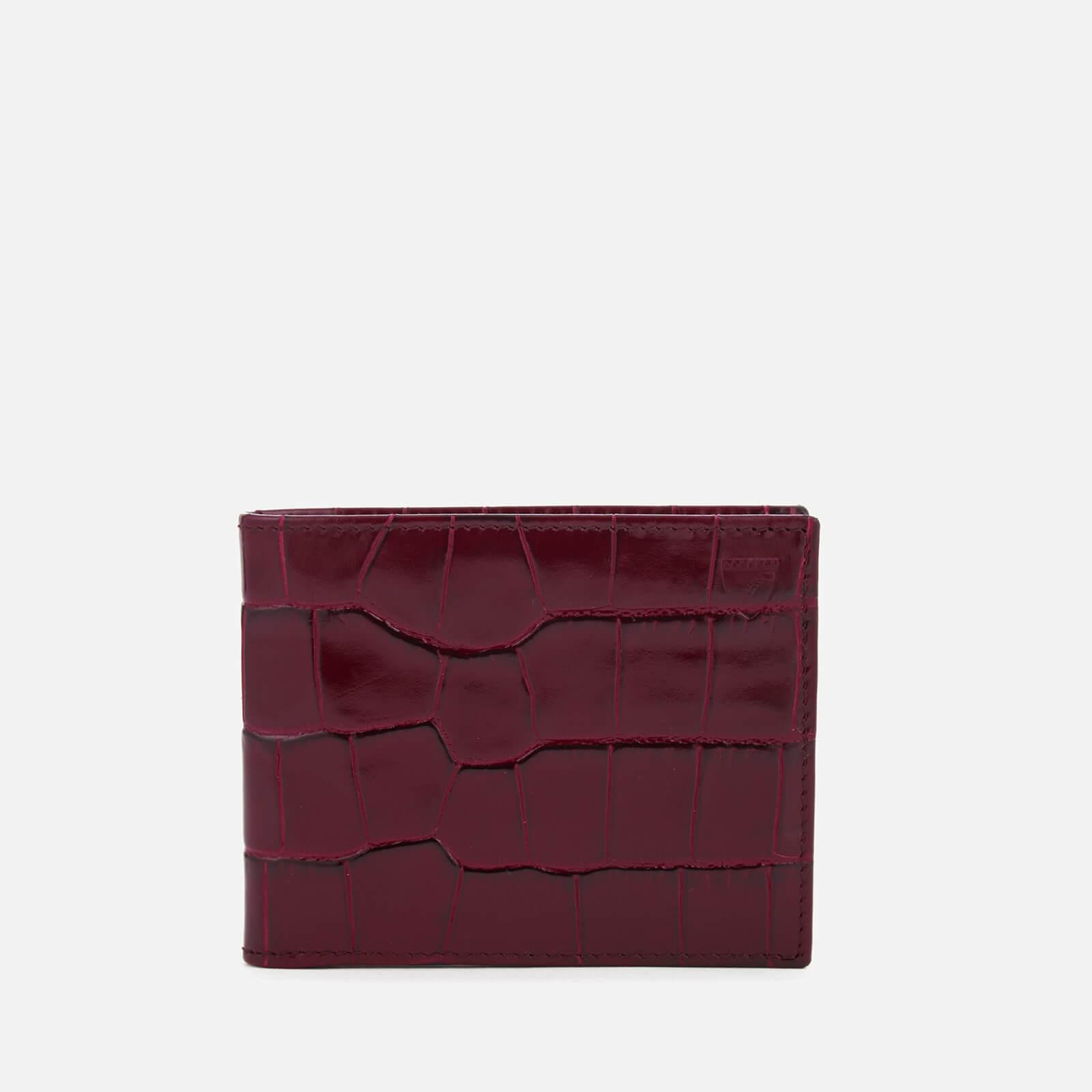 Aspinal of London Men's Billfold Wallet - Bordeaux