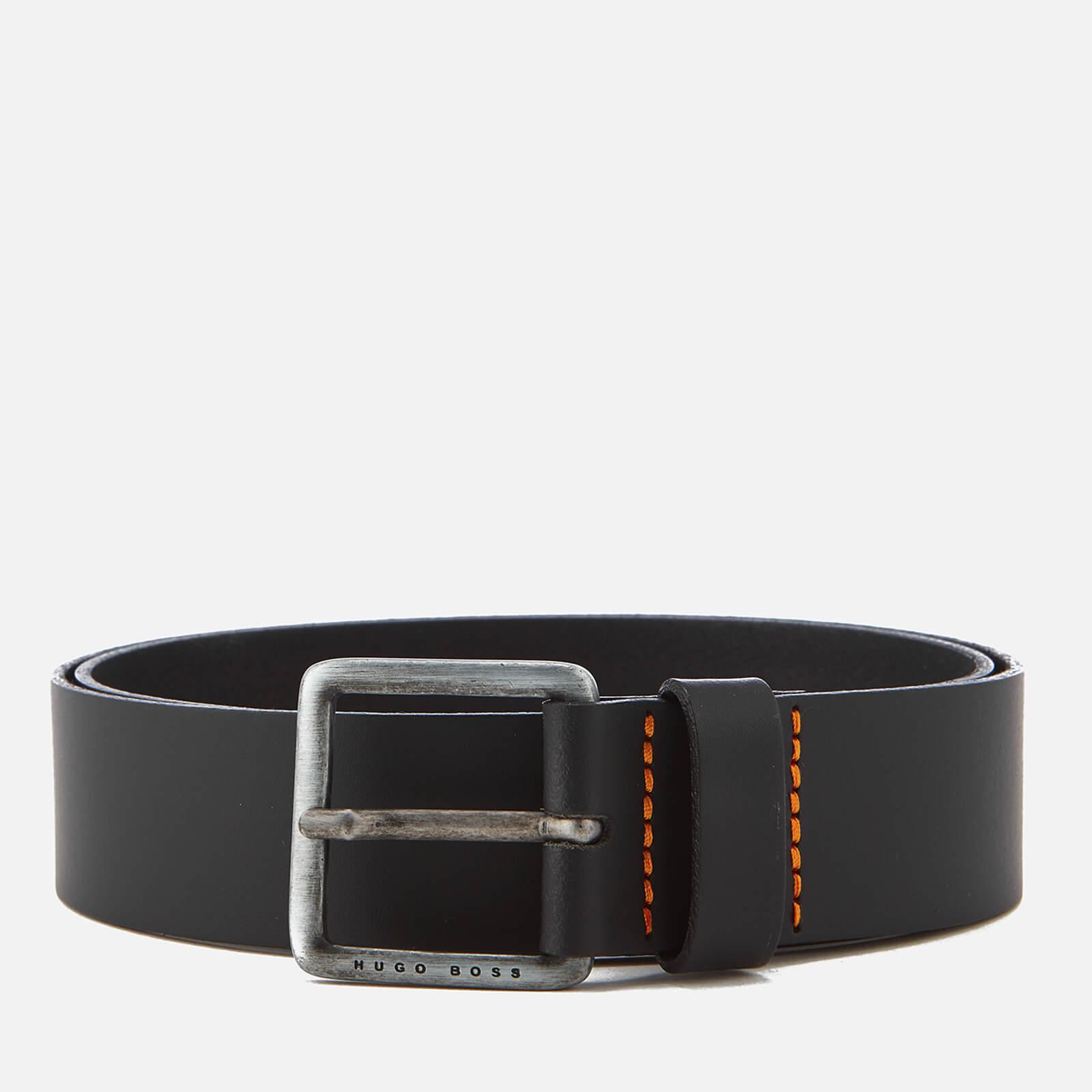 Boss Men's Jeeko Leather Belt - Black - 100cm/W38