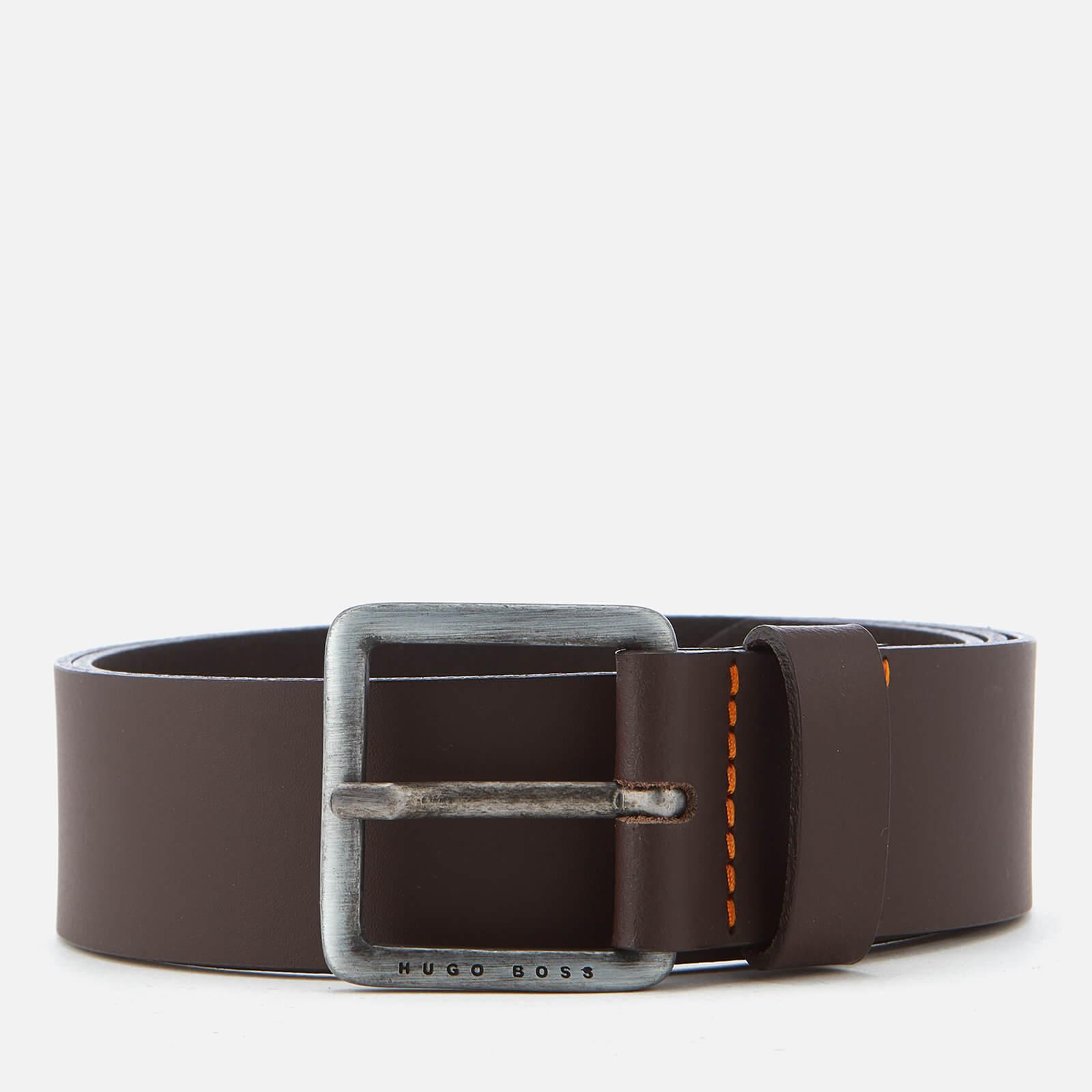 Boss Men's Jeeko Leather Belt - Dark Brown - 90cm/W34