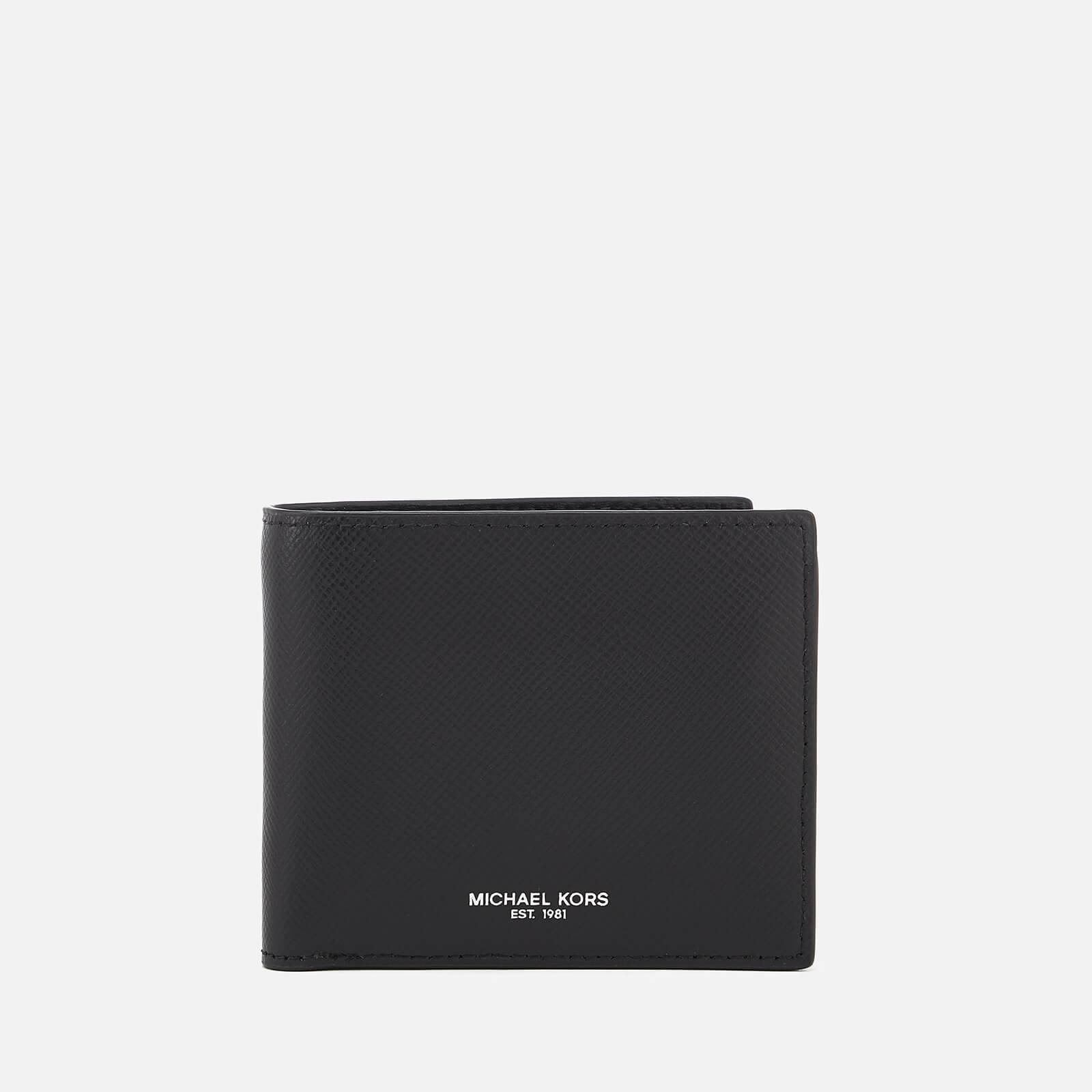 Michael Kors Men's Harrison Billfold Wallet With Coin Pocket - Black
