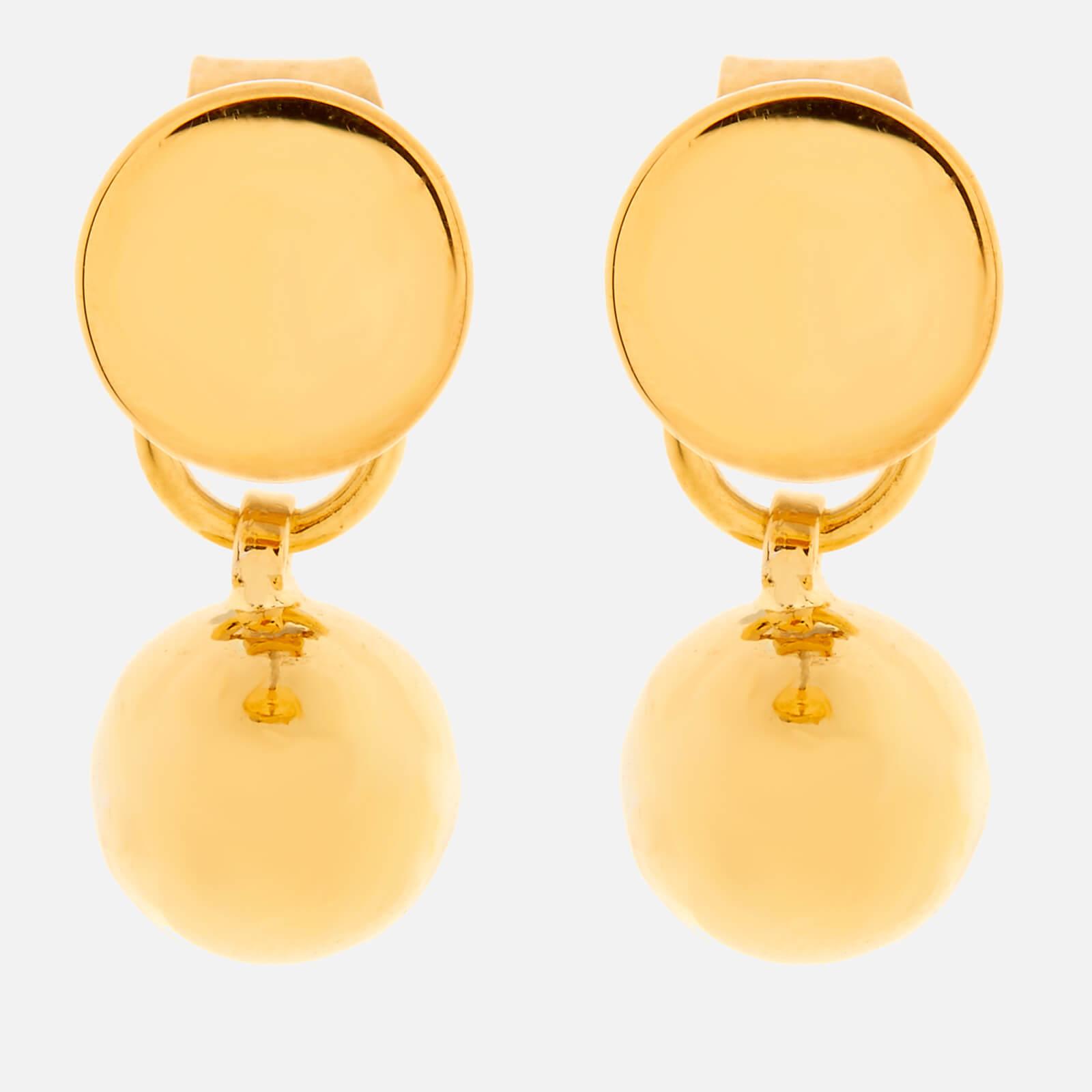 Whistles Women's Sphere Drop Back Earrings - Gold