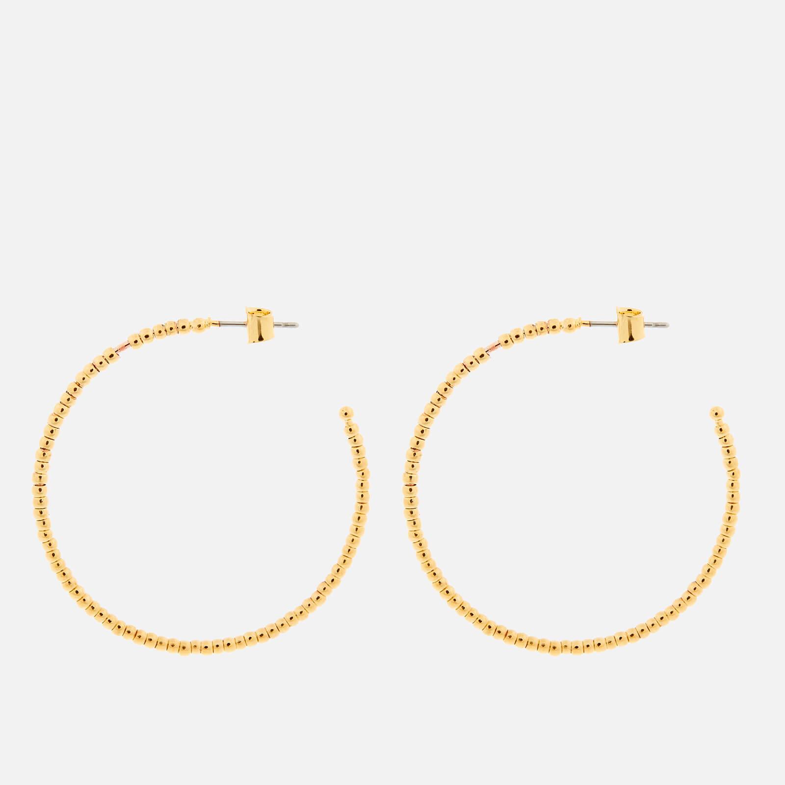 Whistles Women's Seed Bead Large Hoop Earrings - Gold