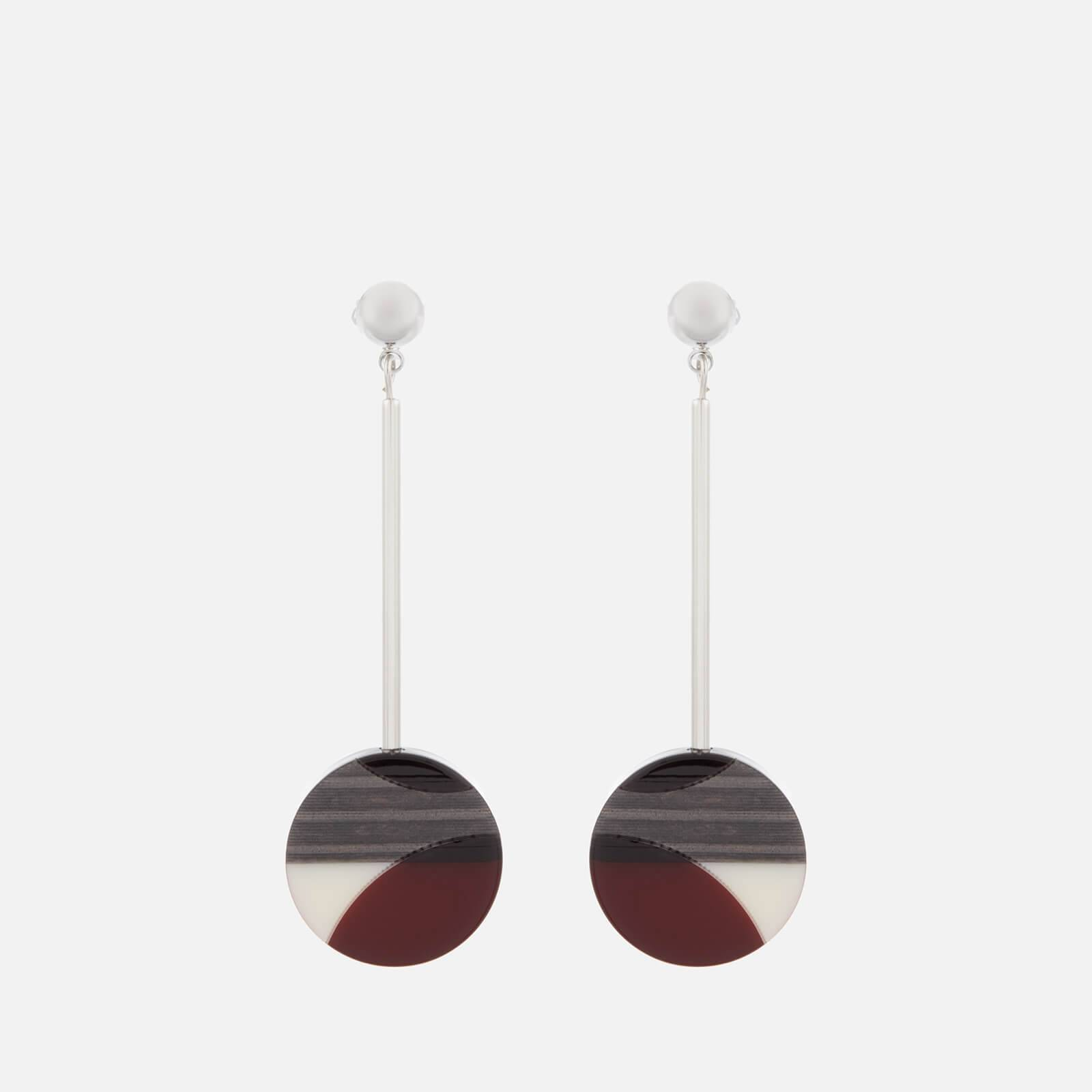 Whistles Women's Geometric Drop Resin Earrings - Burgundy