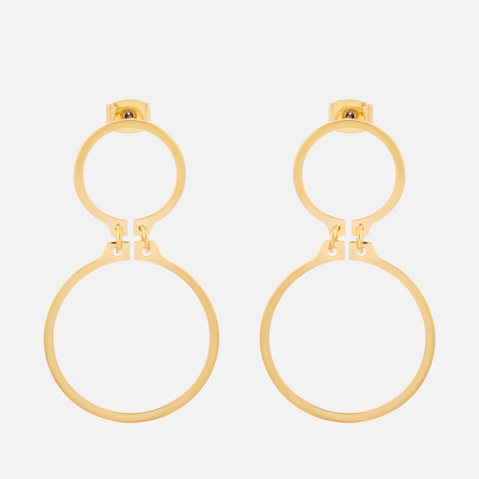 Whistles Women's Large Circle Link Drop Earrings - Gold