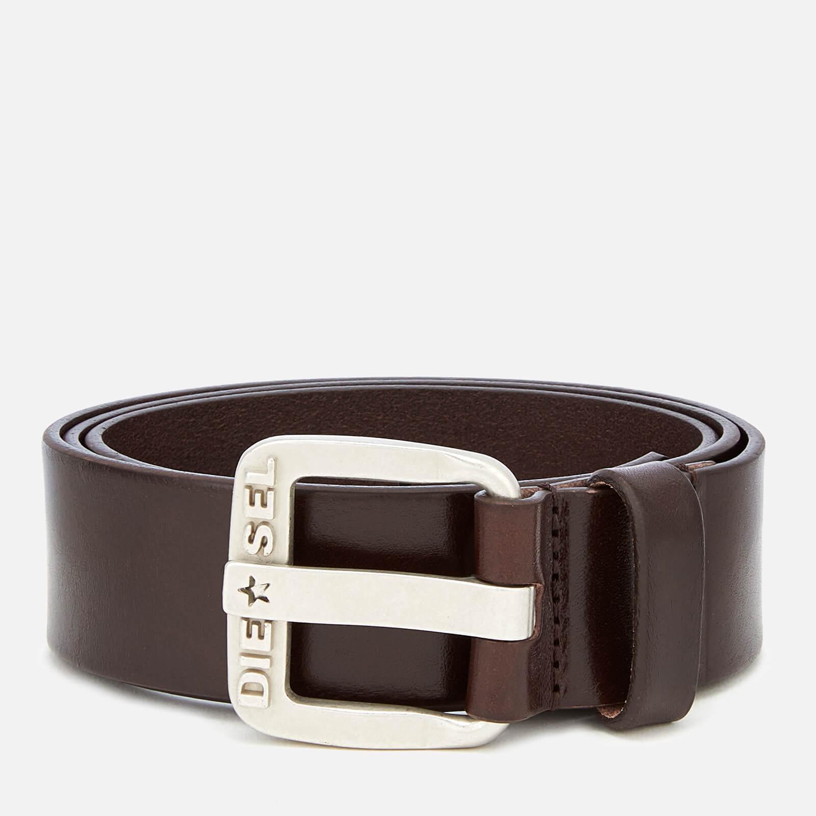 Diesel Men's B-Star Leather Belt - Brown - W42/105cm - Brown
