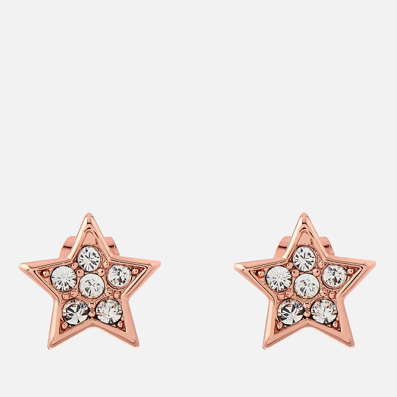 Ted Baker Women's Safire Pavé Shooting Star Stud Earrings - Rose Gold/Crystal