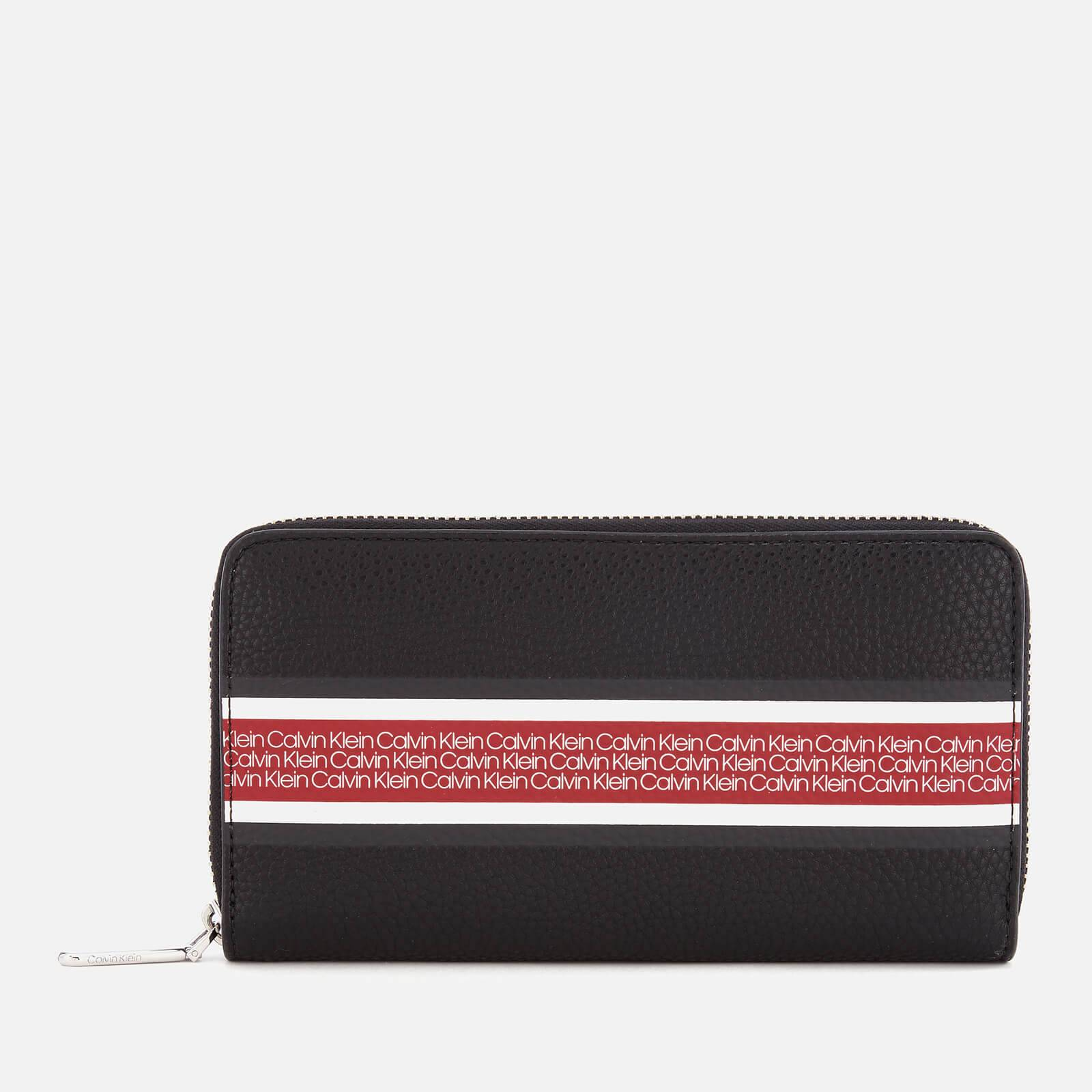 Calvin Klein Women's Race Large Zip Around Wallet - Black