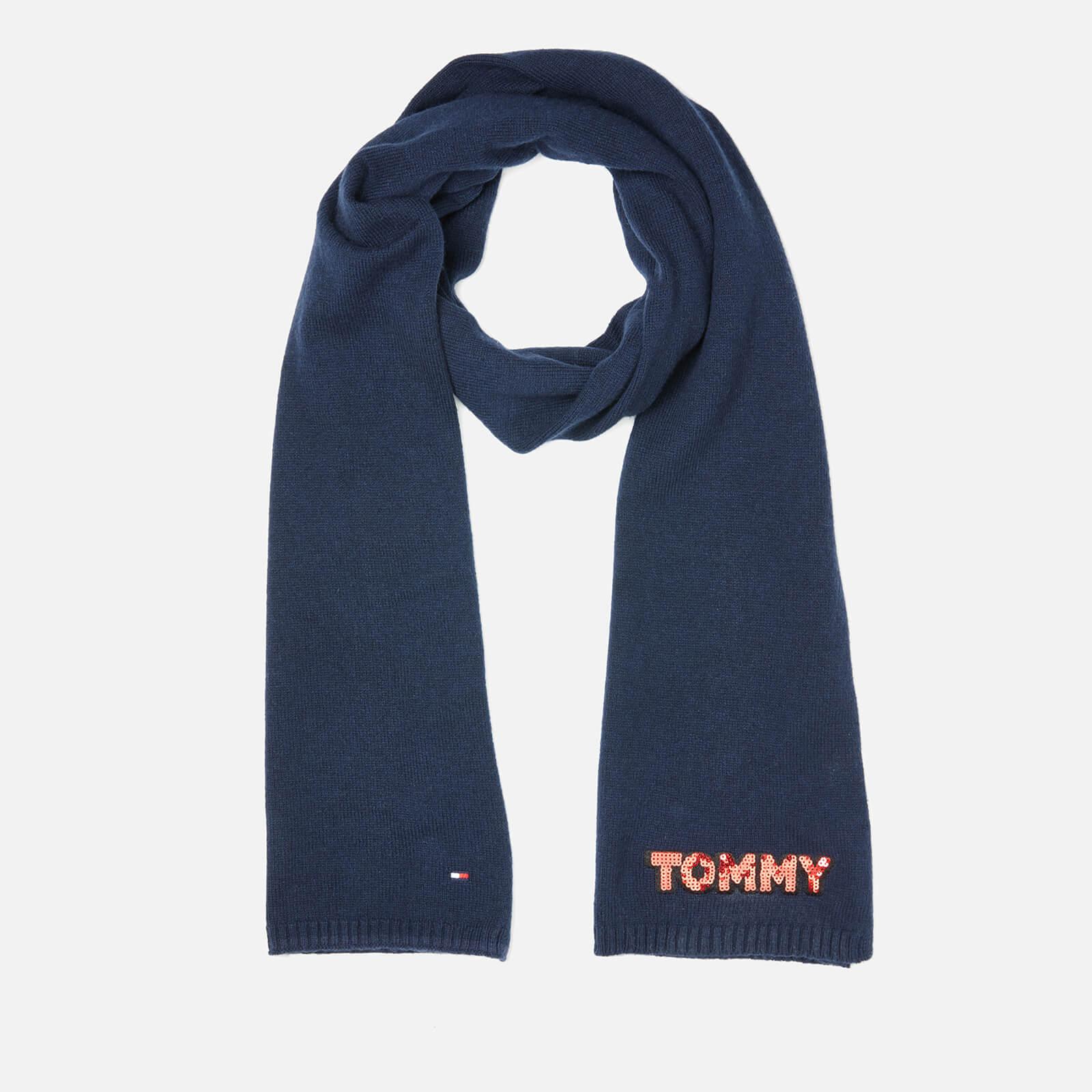 Tommy Hilfiger Women's Tommy Patch Knit Scarf - Navy
