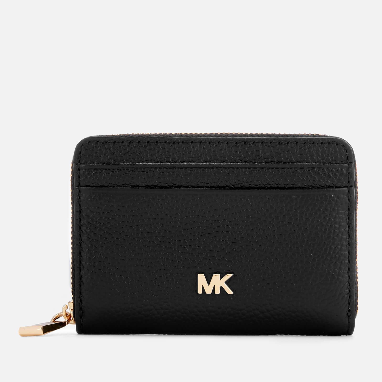 MICHAEL MICHAEL KORS Women's Money Pieces Zip Around Coin Card Case - Black