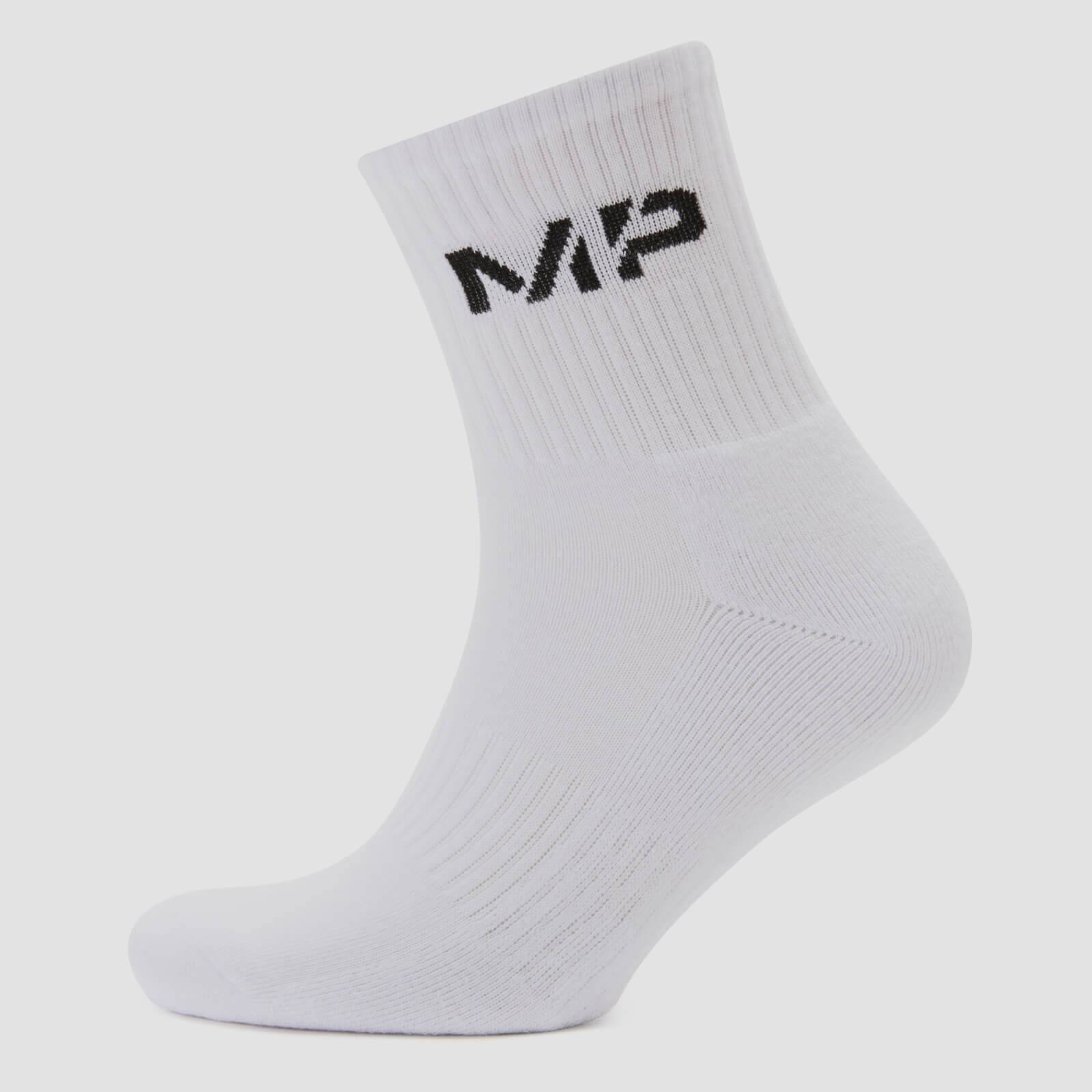 Myprotein MP Men's Core Crew Socks (2 Pack) - White - UK 6-8