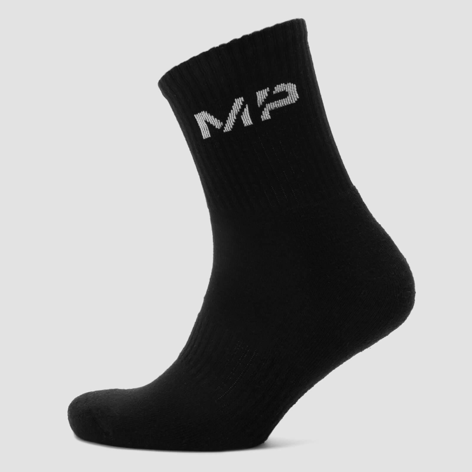 Myprotein MP Men's Core Crew Socks (2 Pack) - Black - UK 9-12
