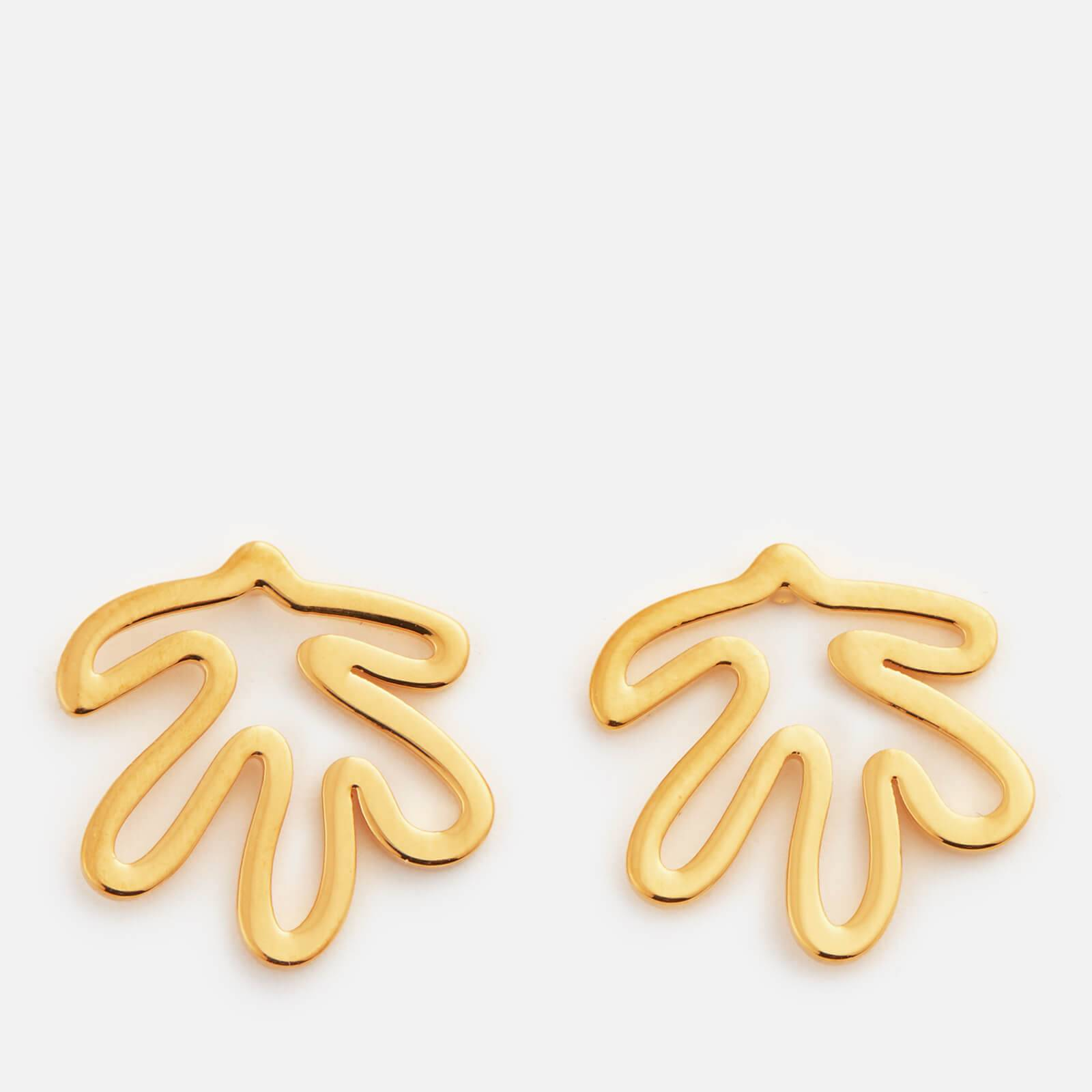Whistles Women's Abstract Leaf Stud Earrings - Gold