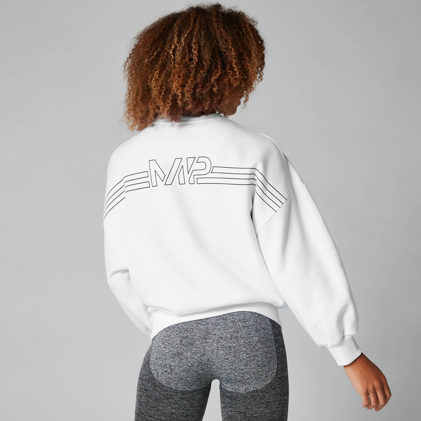 Myprotein MP Colour Block Oversized Sweater - White - XL