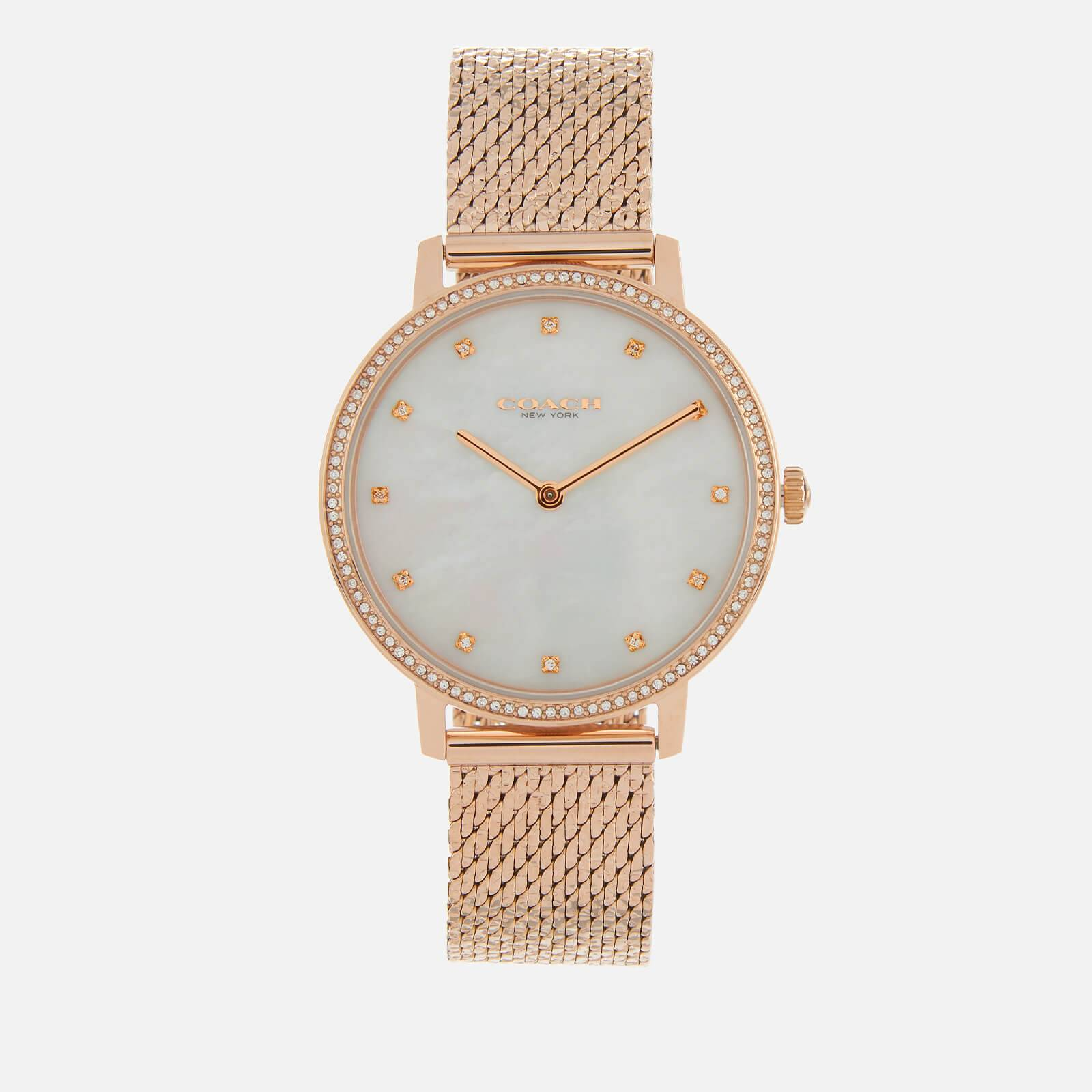 Coach Women's Audrey Mesh Strap Watch - Rose Gold