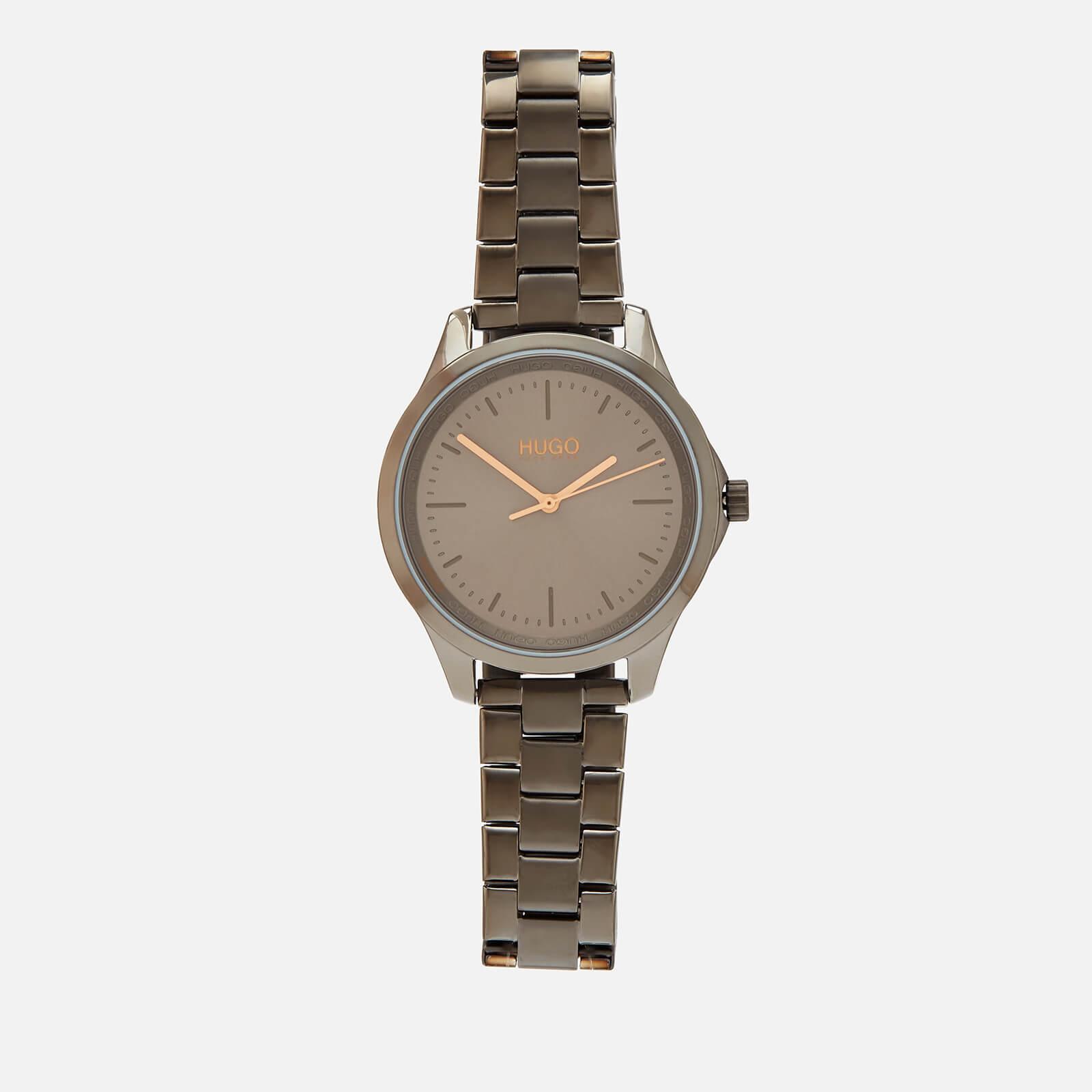 Hugo Boss Women's Fearless Metal Strap Watch - Grey
