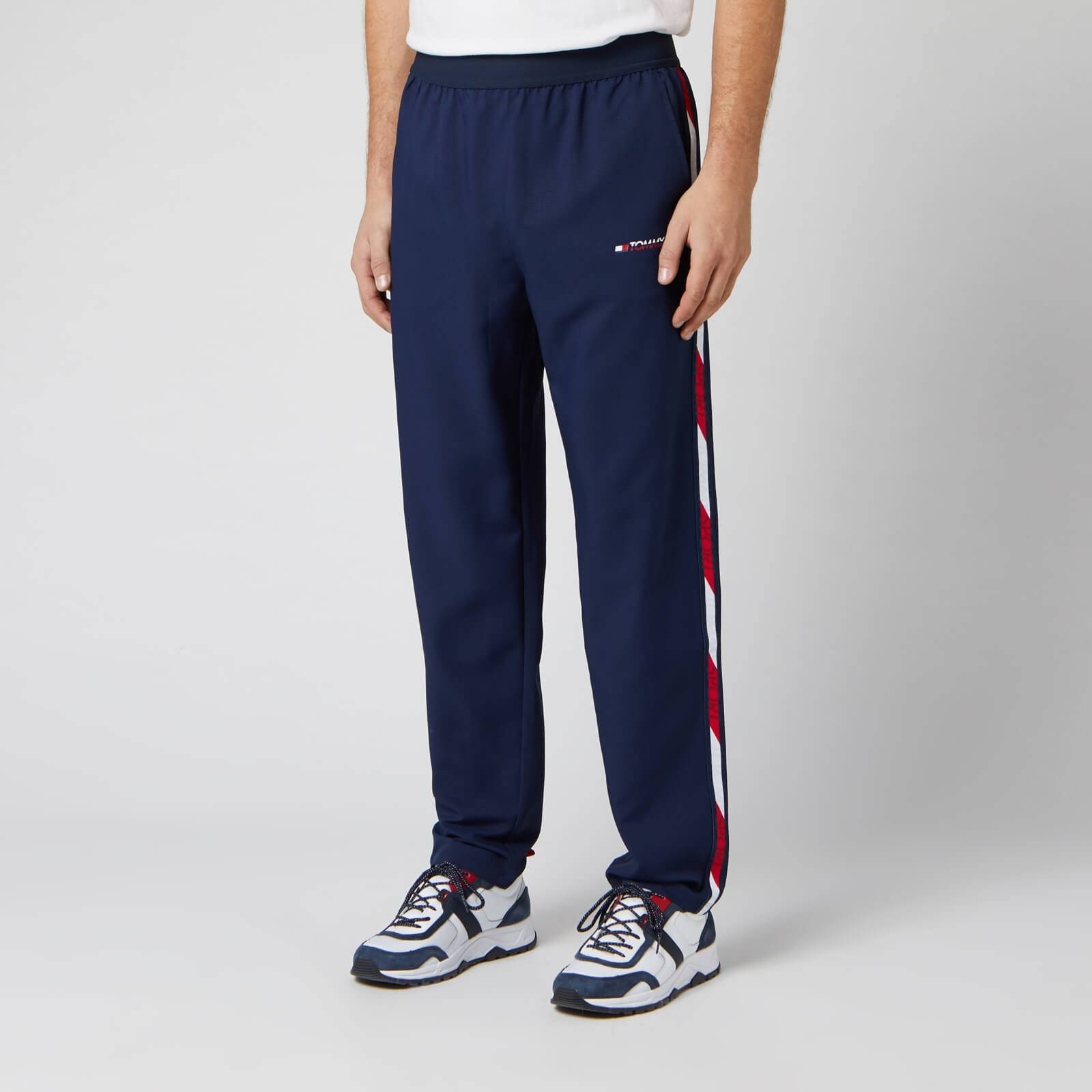 Tommy Sport Men's Woven Tape Pants - Sport Navy - L