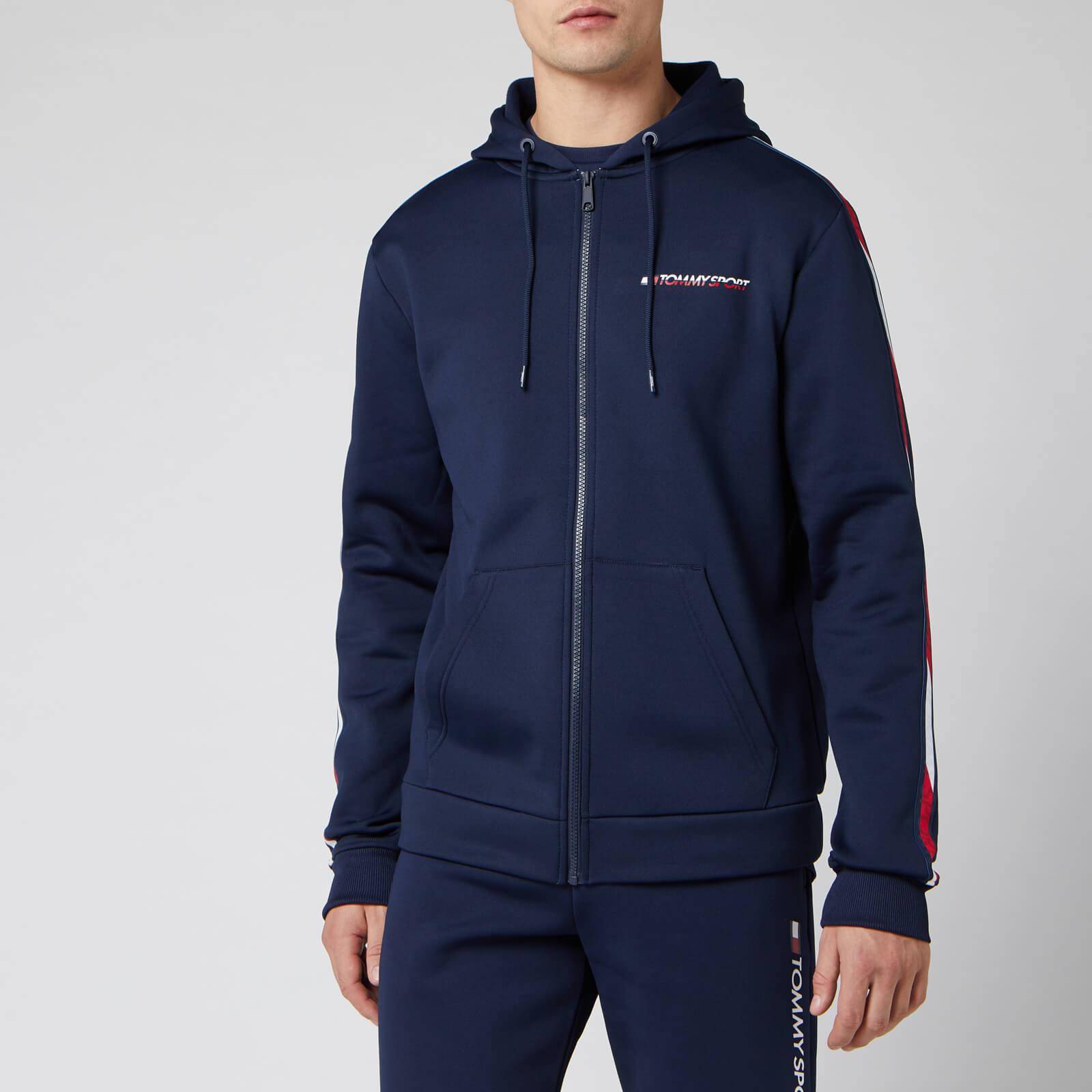 Tommy Sport Men's Full Zip Tape Fleece Hoody - Sport Navy - L
