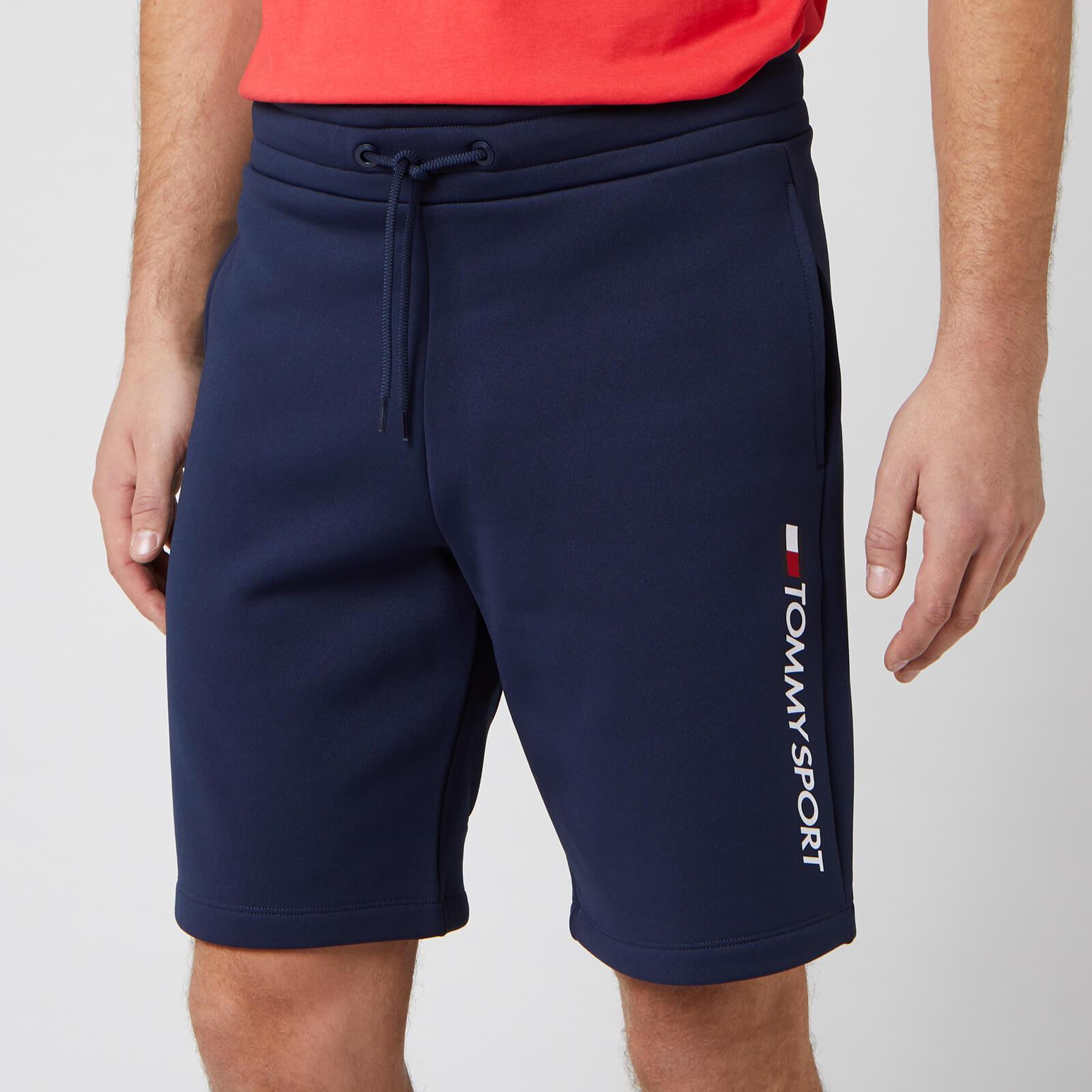 Tommy Sport Men's Fleece Logo Shorts - Sport Navy - L