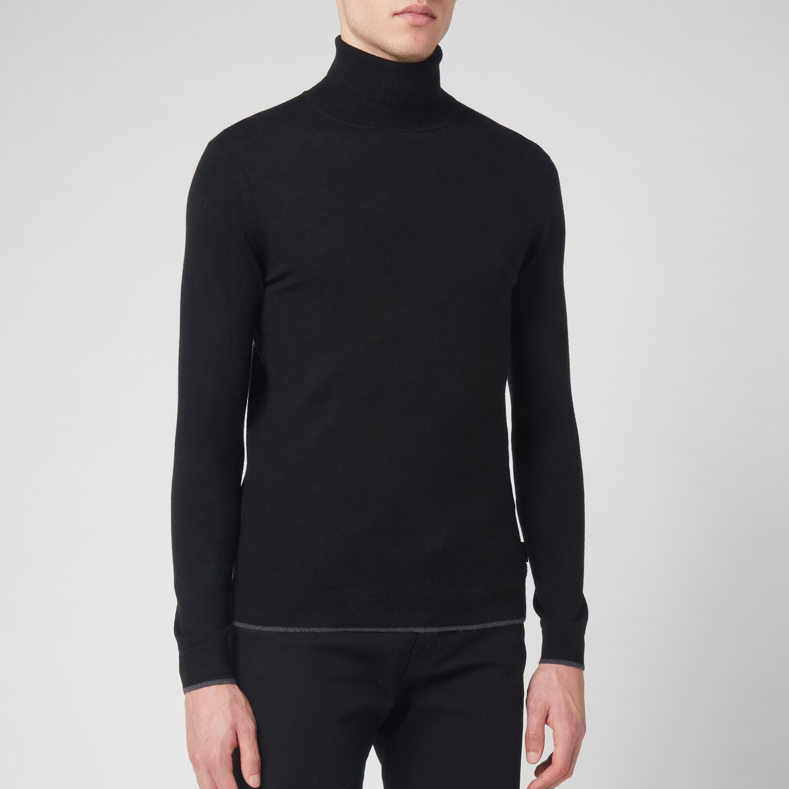 Ted Baker Men's Newtrik Fitted Roll Neck Sweatshirt - Black - XL/5