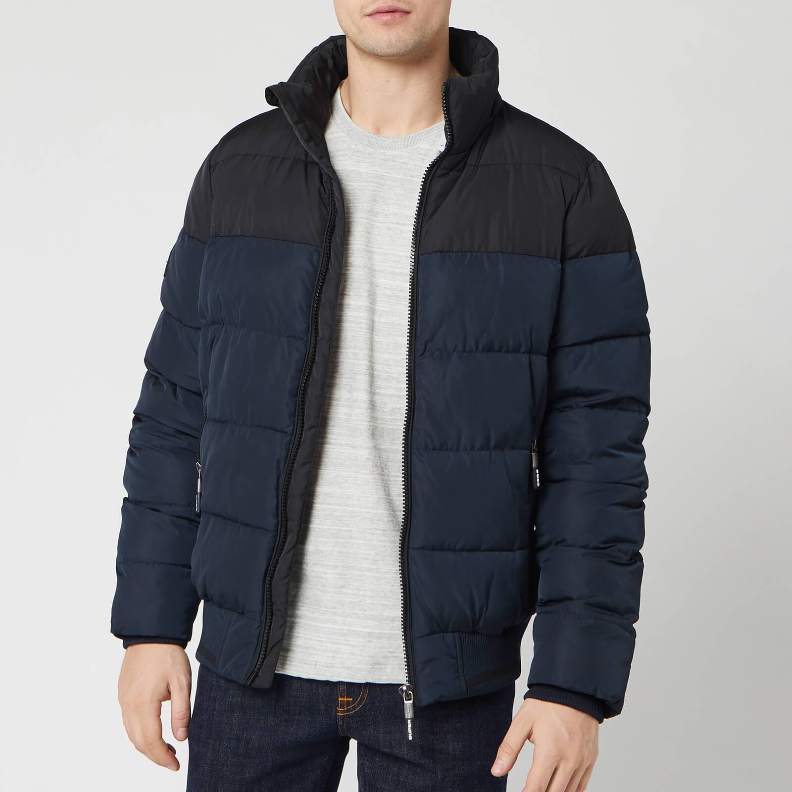 Superdry Men's Track Sports Puffer Jacket - Eclipse Navy - M