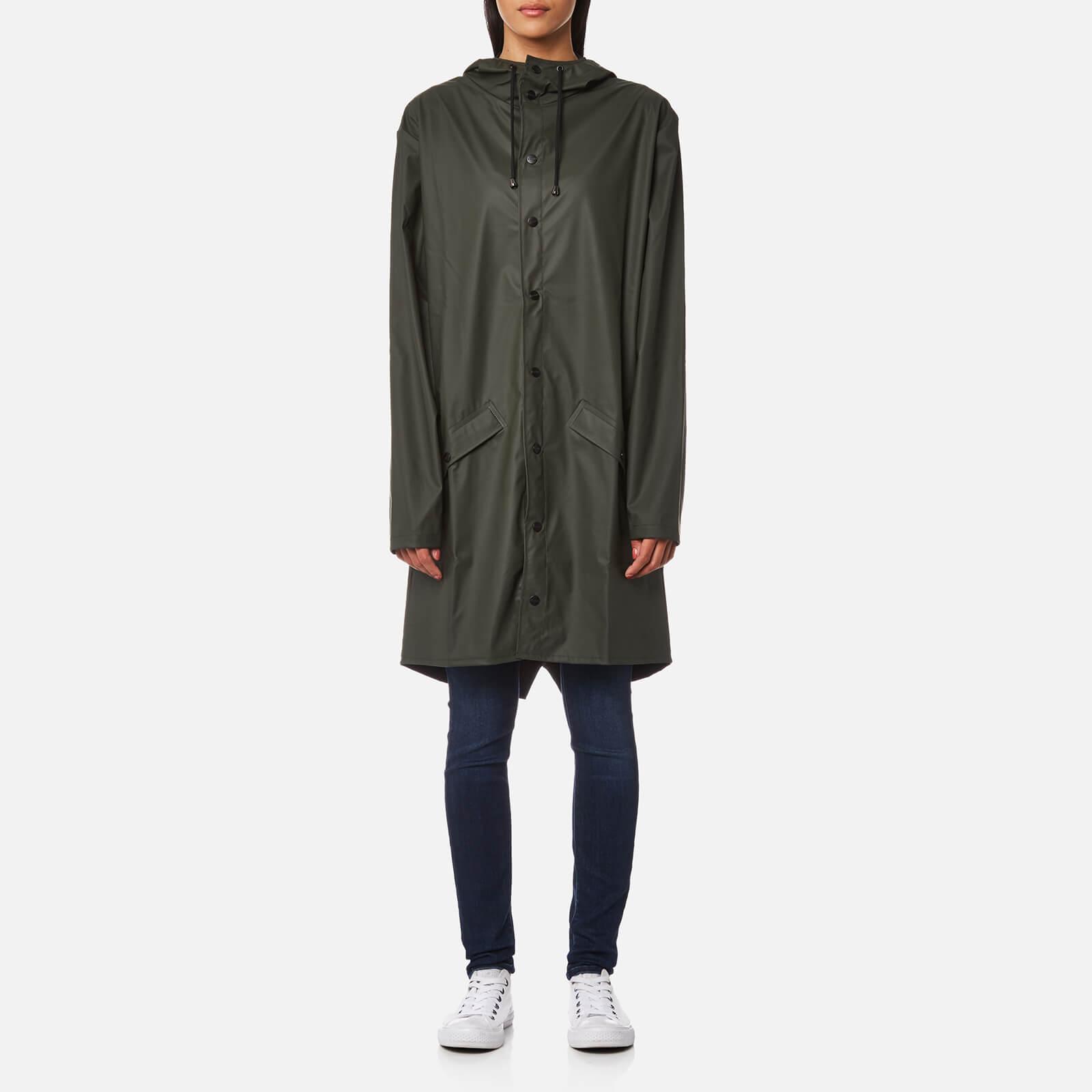 RAINS Women's Long Jacket - Green - M-L