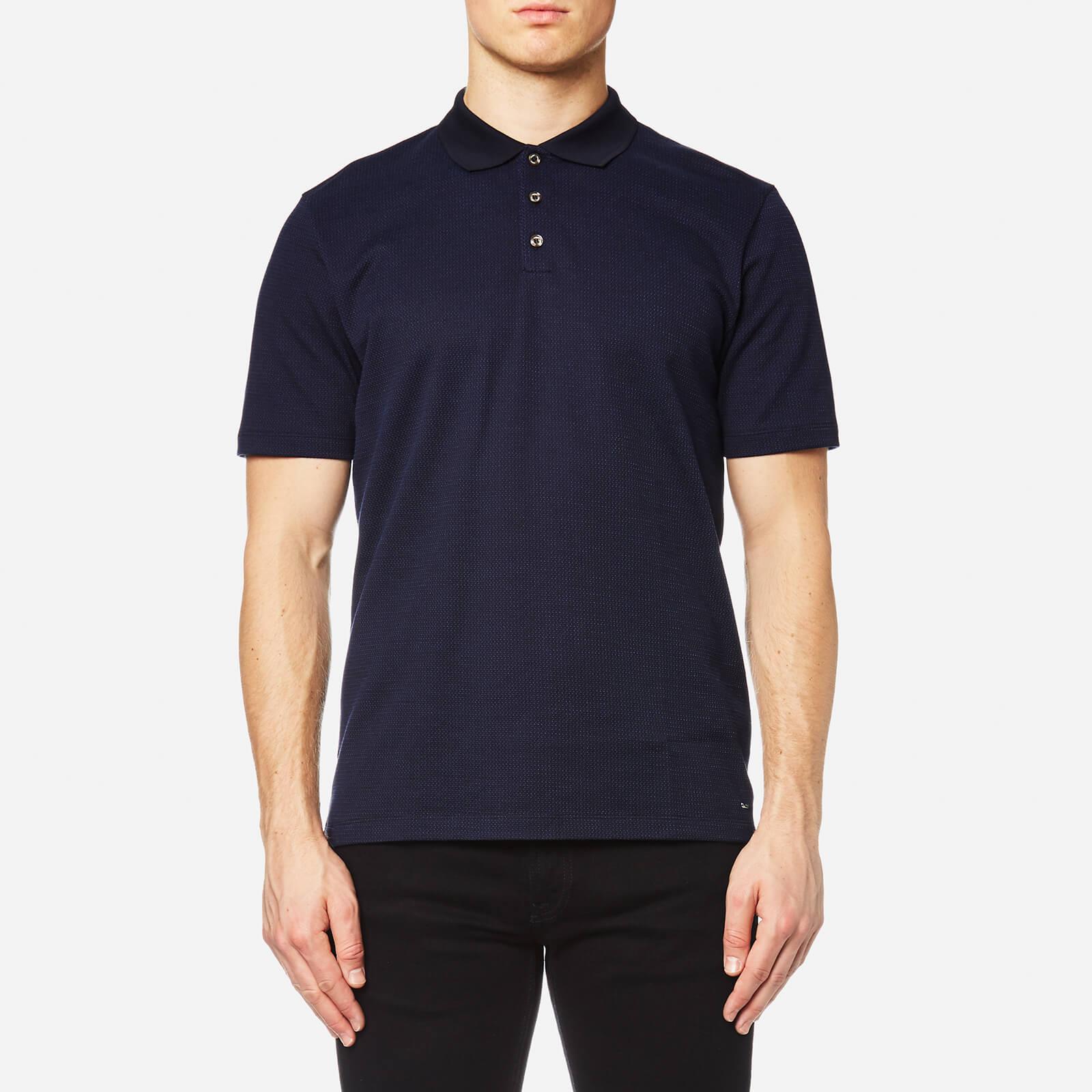 Hugo Boss Men's Dateno Textured Polo Shirt - Navy - S - Blue
