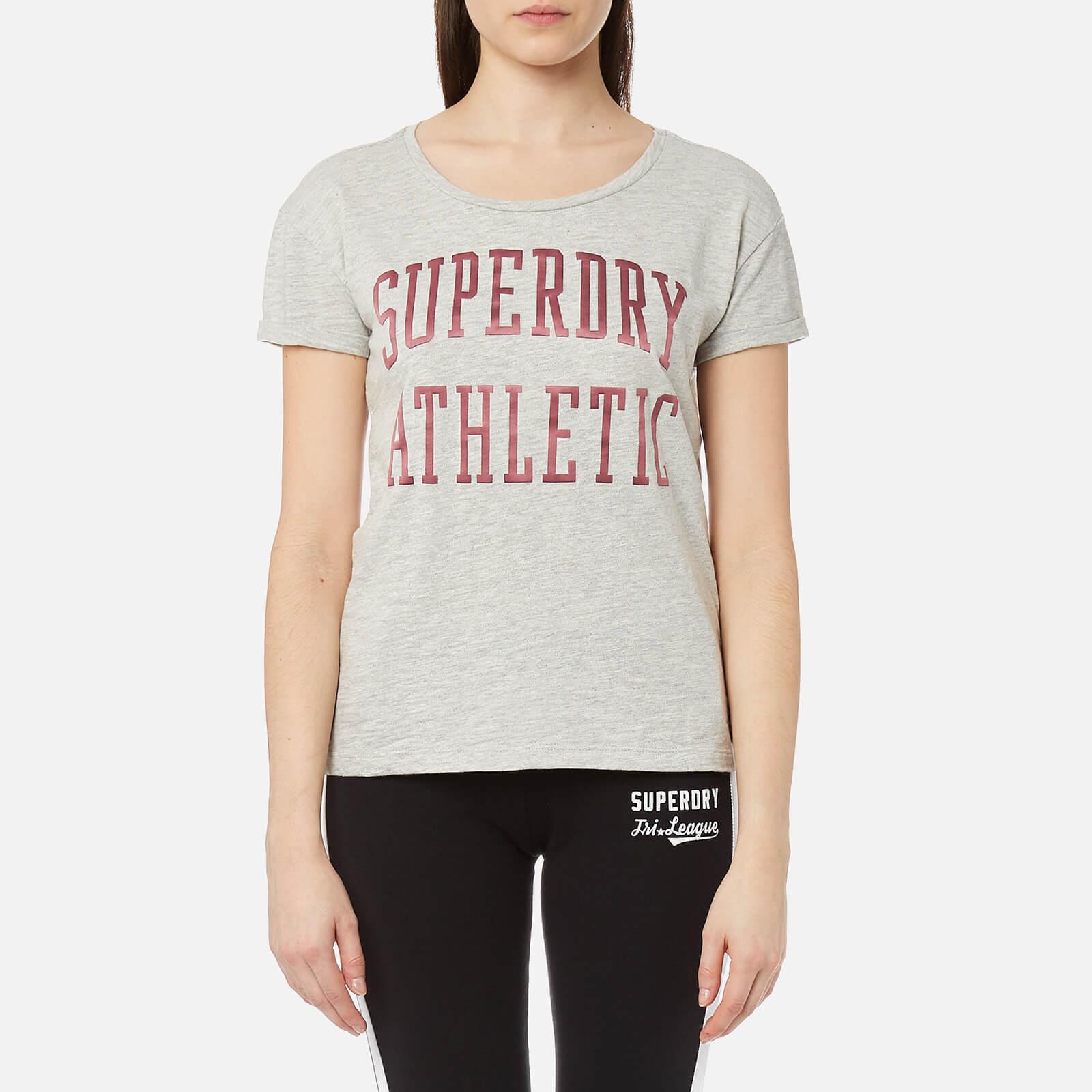 Superdry Women's Athletic Slim Boyfriend T-Shirt - Jock Grey Marl - S - Grey