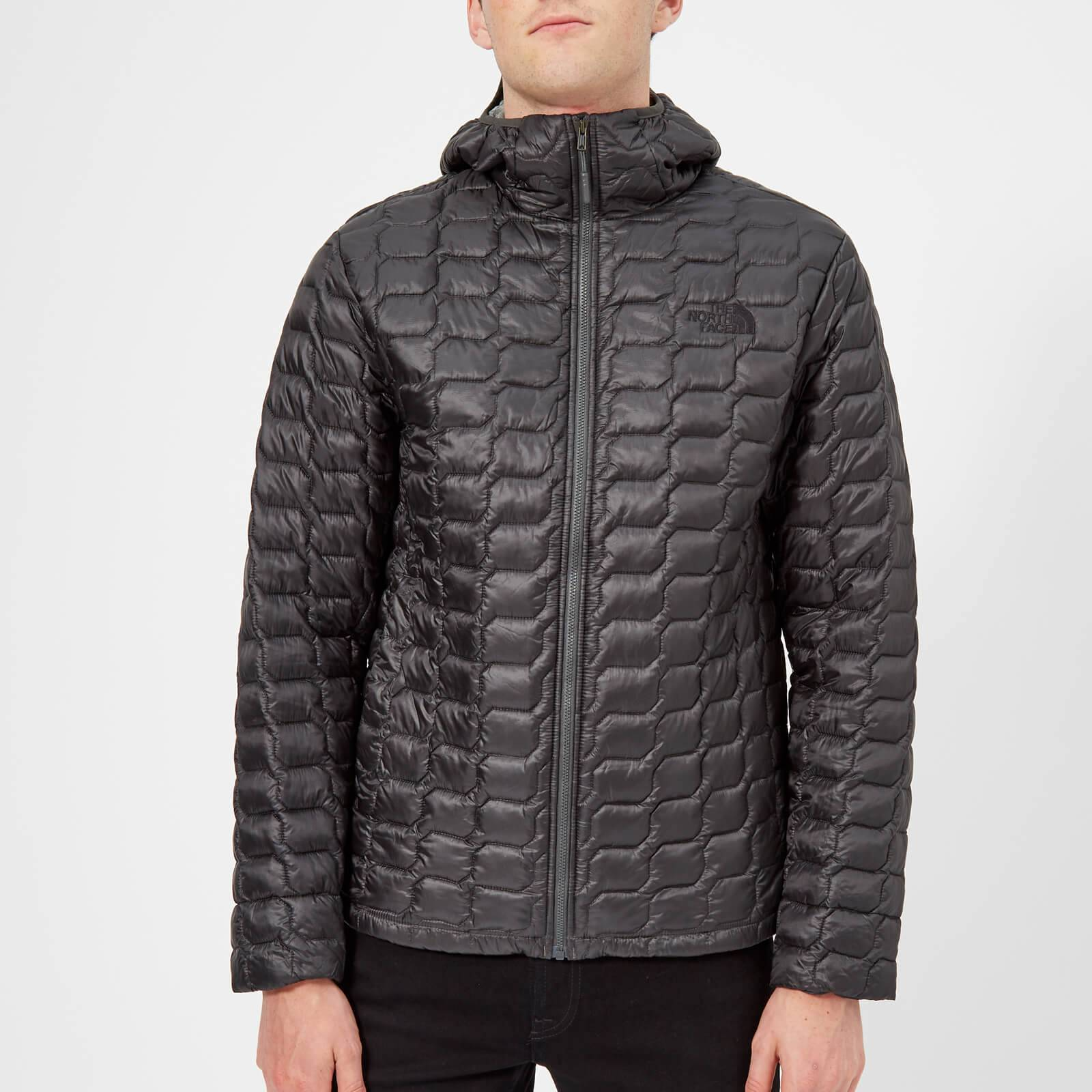 The North Face Men's Thermoball Hooded Jacket - Asphalt Grey/Fusebox Grey Process Print - L - Grey