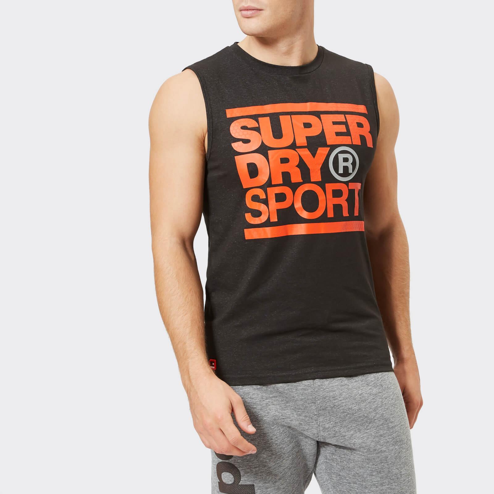 Superdry Sport Men's Core Graphic Tank Top - Black - L - Black