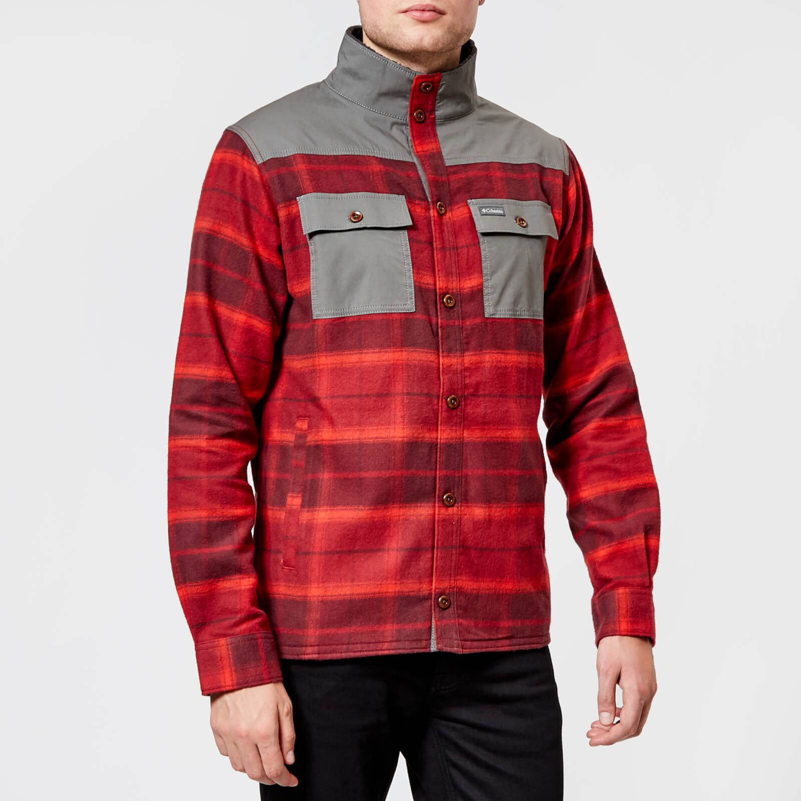 Columbia Men's Deschutes River Shirt Jacket - Rusty Large Plaid - XL - Multi