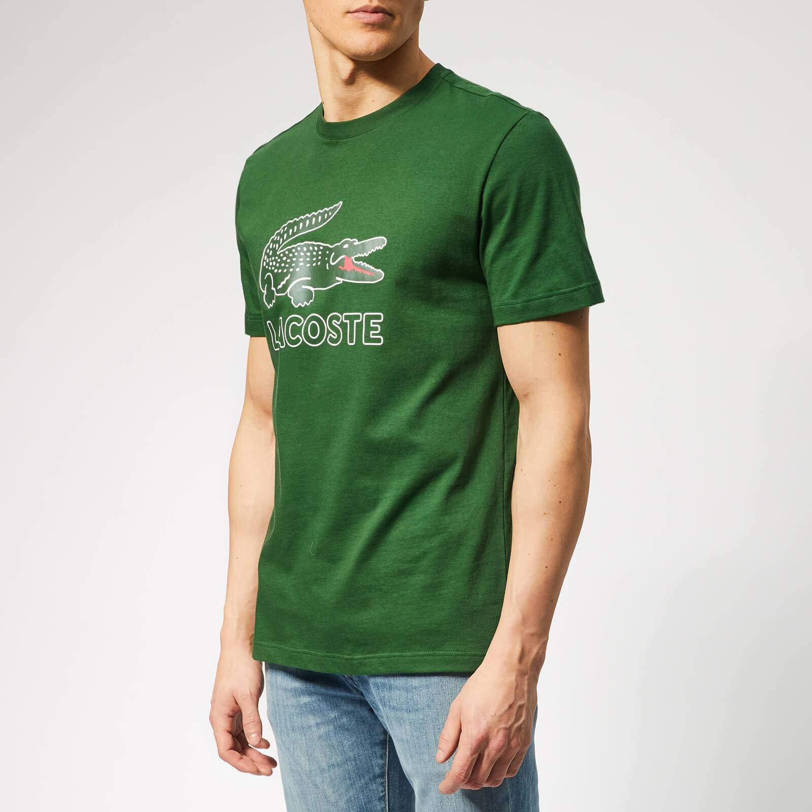 Lacoste Men's Large Logo T-Shirt - Green - 4/M - Green